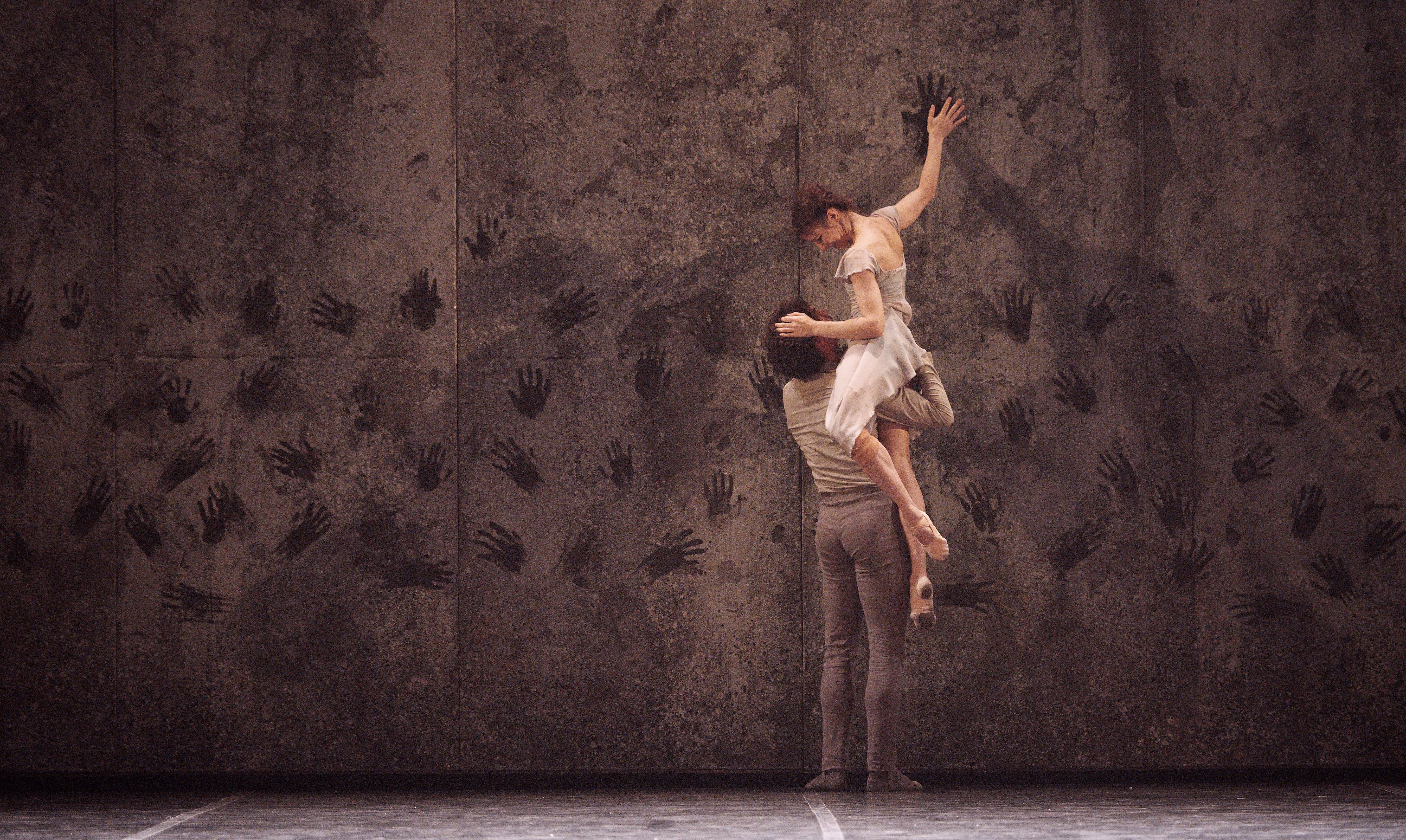 English National Ballet dancers Alina Cojocaru and Isaac Hernandez in Akram Khan's Giselle.