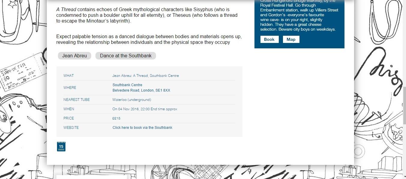 Screenshot of Culture Whisper content by Georgina Butler. Preview of Jean Abreu: A Thread, image 4