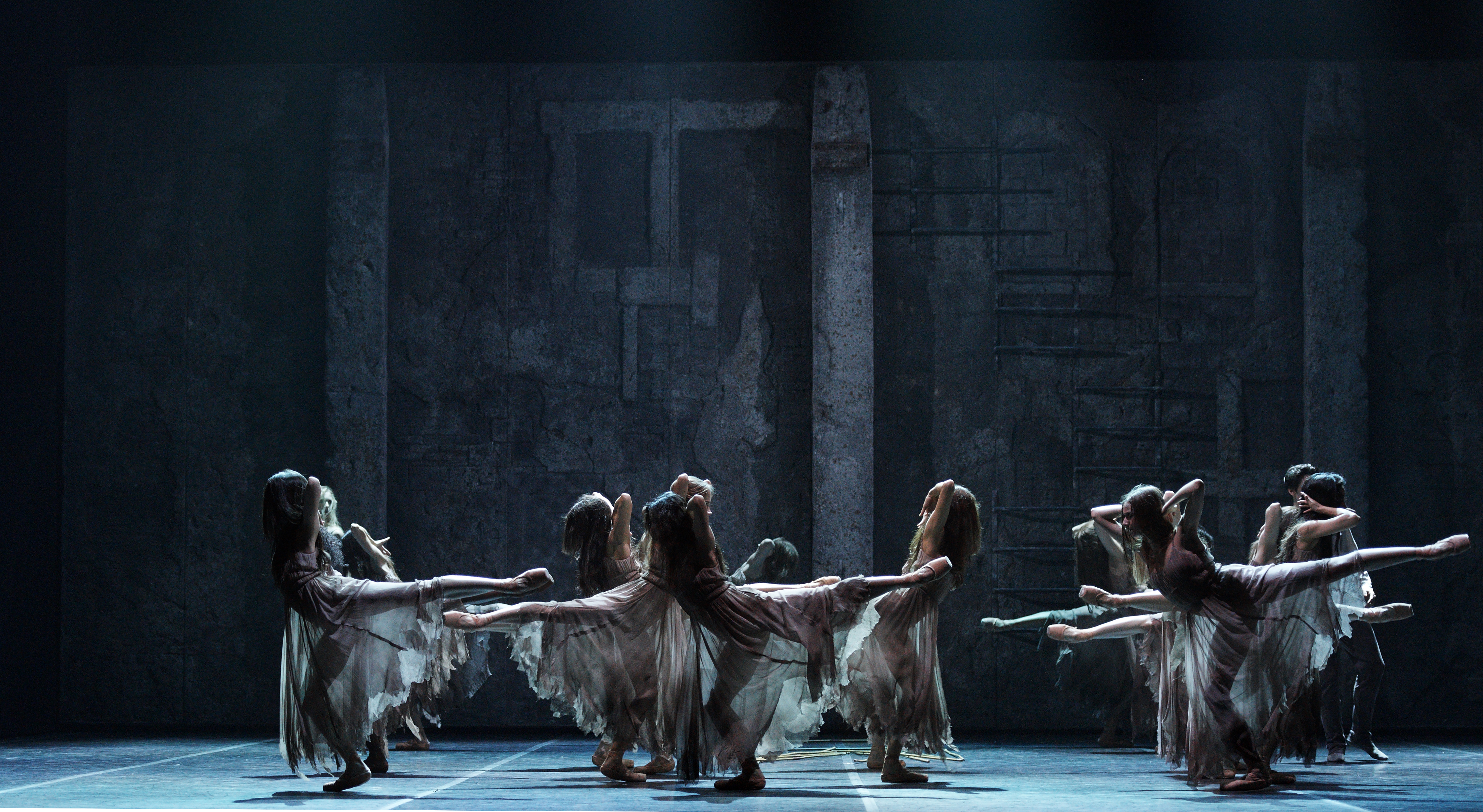 English National Ballet in Akram Khan's Giselle (photo by Laurent Liotardo).