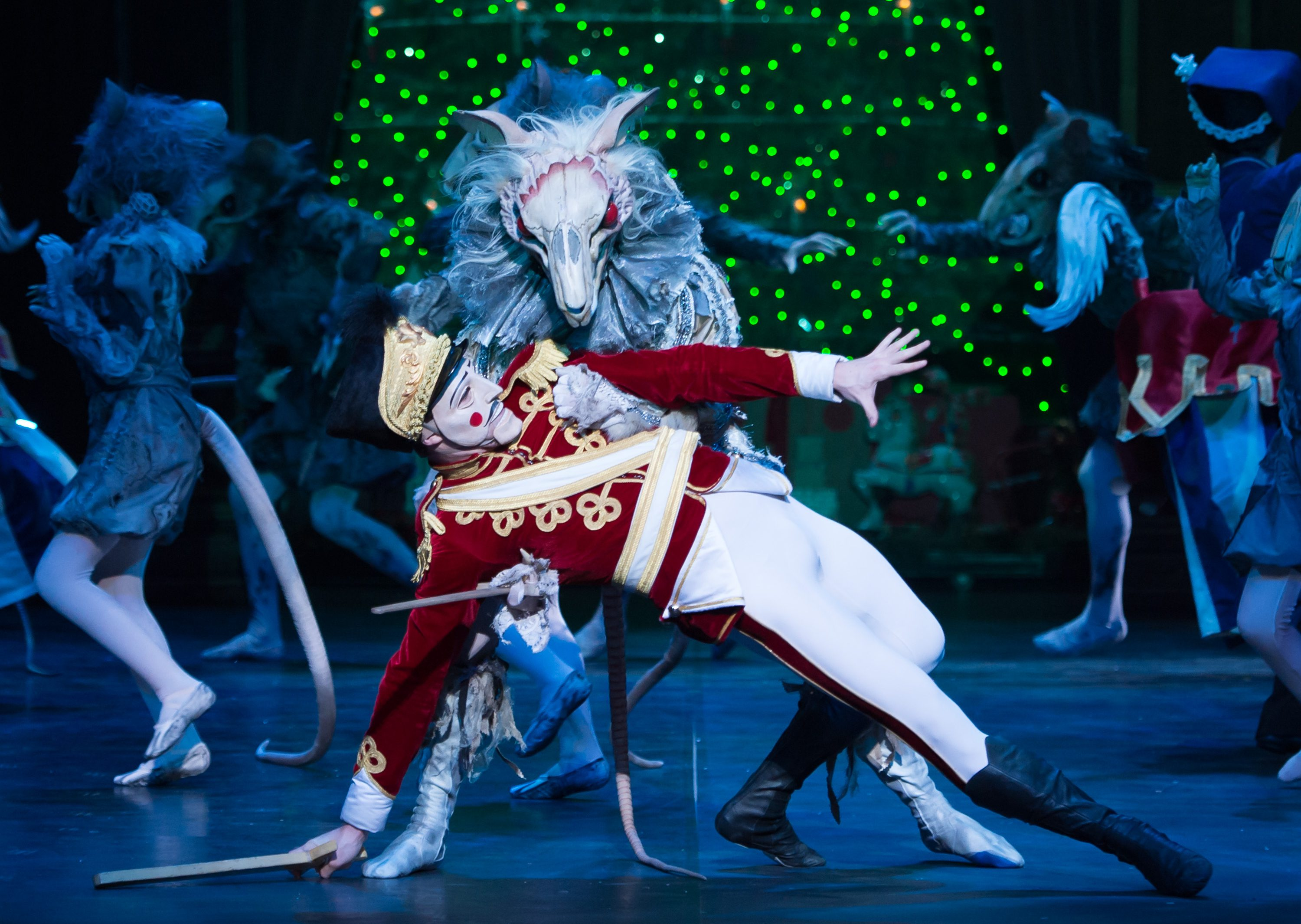 English National Ballet. Wayne Eagling's Nutcracker. The Mouse King and Nutcracker.