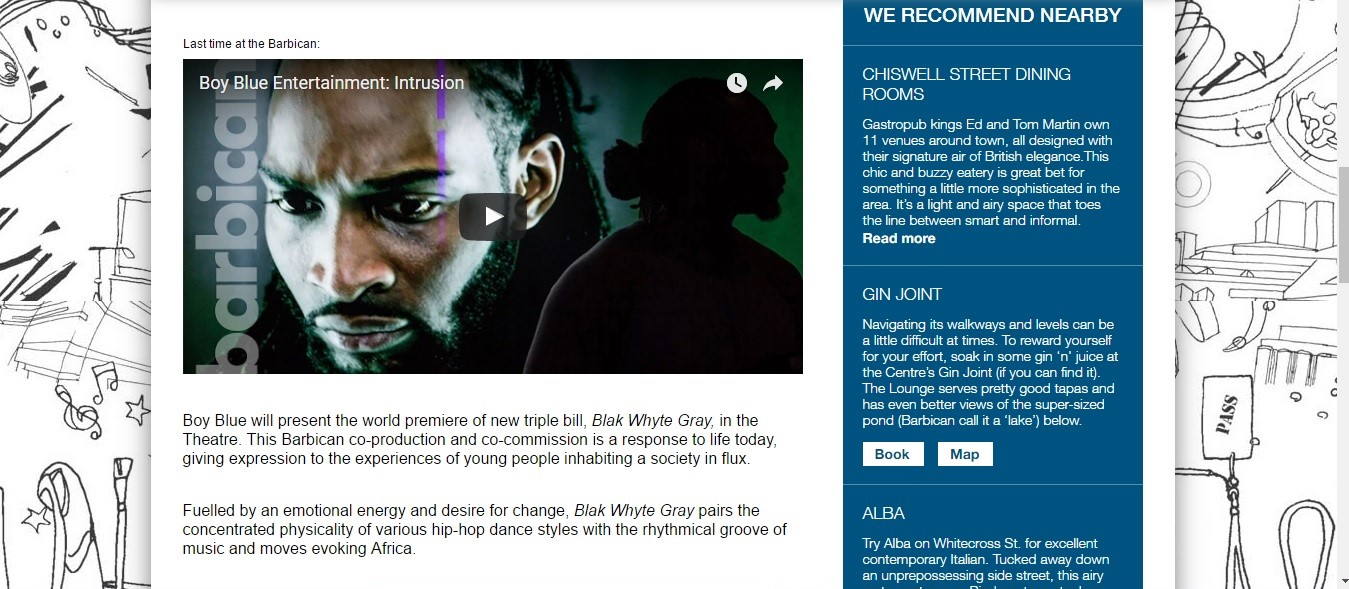 Screenshot of Culture Whisper content by Georgina Butler. Preview of Boy Blue Entertainment, image 3