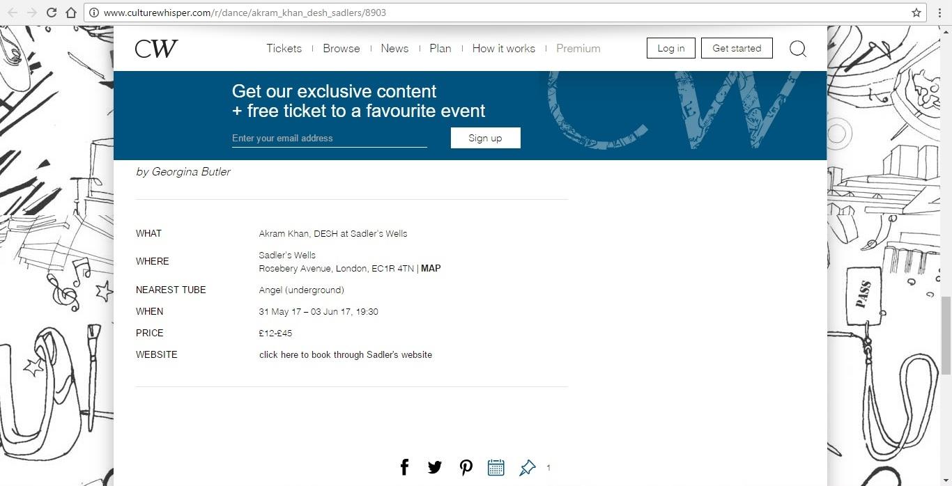 Screenshot of Culture Whisper content by Georgina Butler. Preview of Akram Khan: DESH, image 6