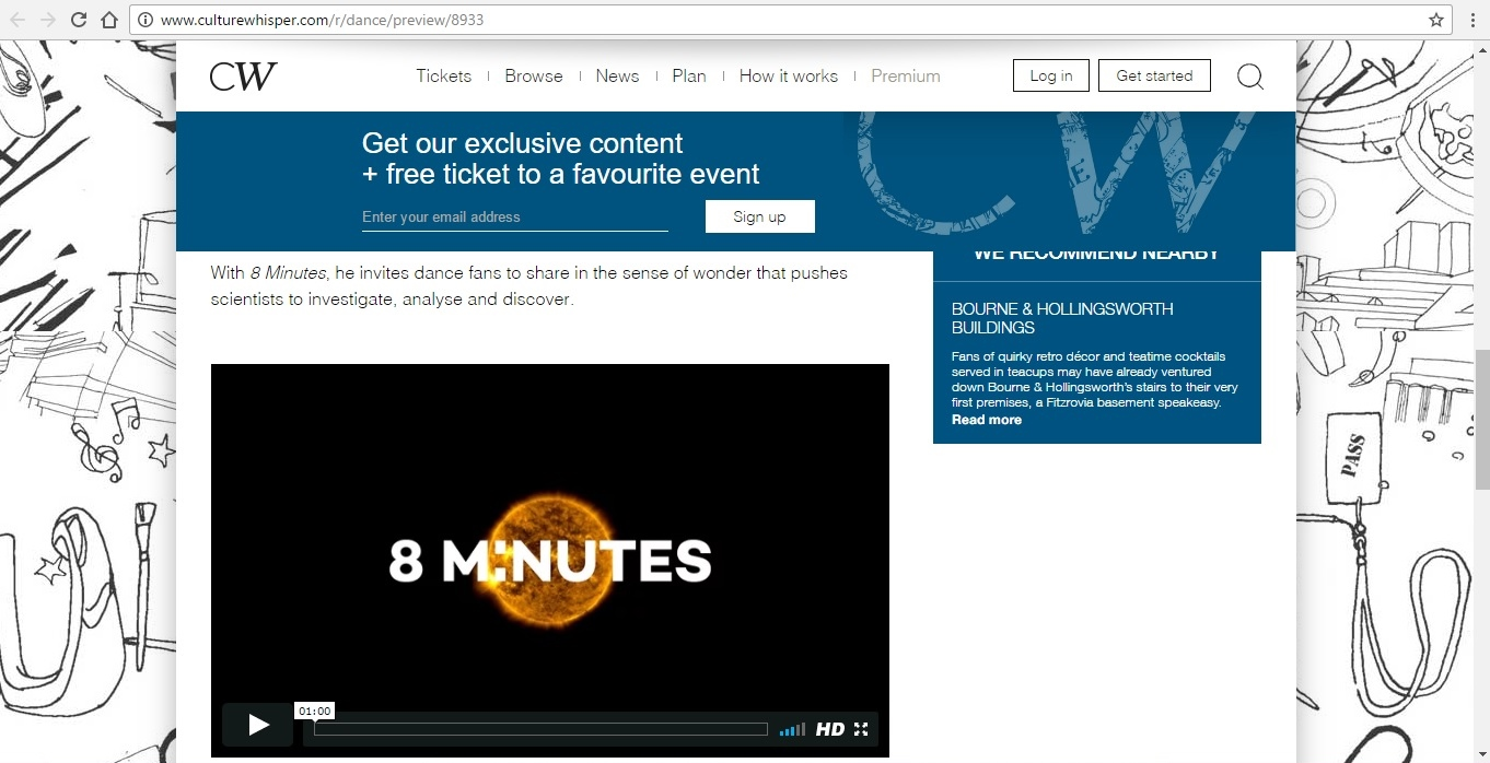 Screenshot of Culture Whisper content by Georgina Butler. Preview of Alexander Whitley Company: 8 Minutes, image 4