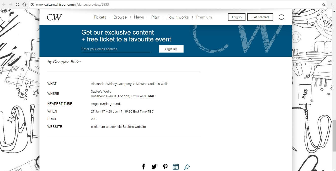 Screenshot of Culture Whisper content by Georgina Butler. Preview of Alexander Whitley Company: 8 Minutes, image 6