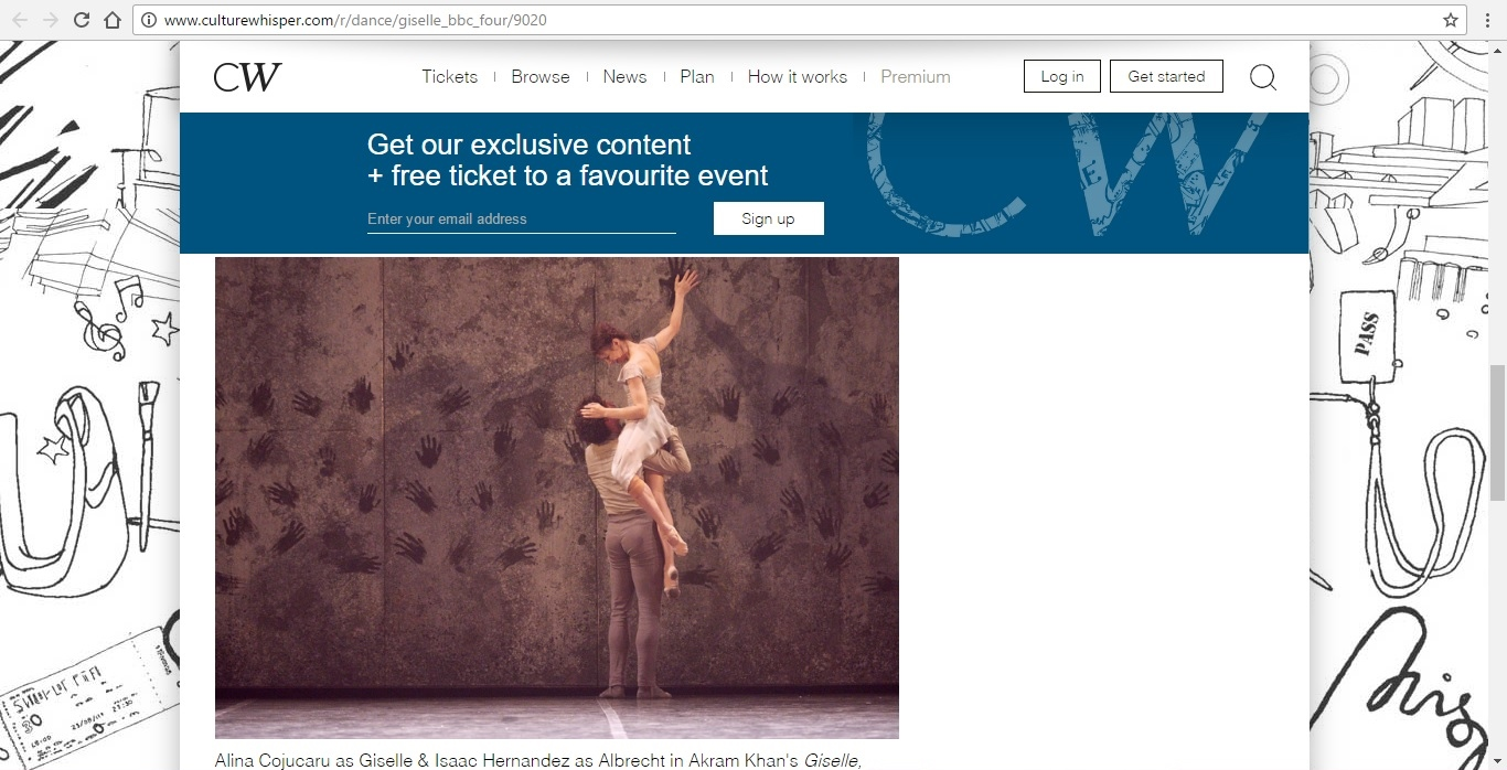 Screenshot of Culture Whisper content by Georgina Butler. Preview of Giselle: Belle of the Ballet, image 5