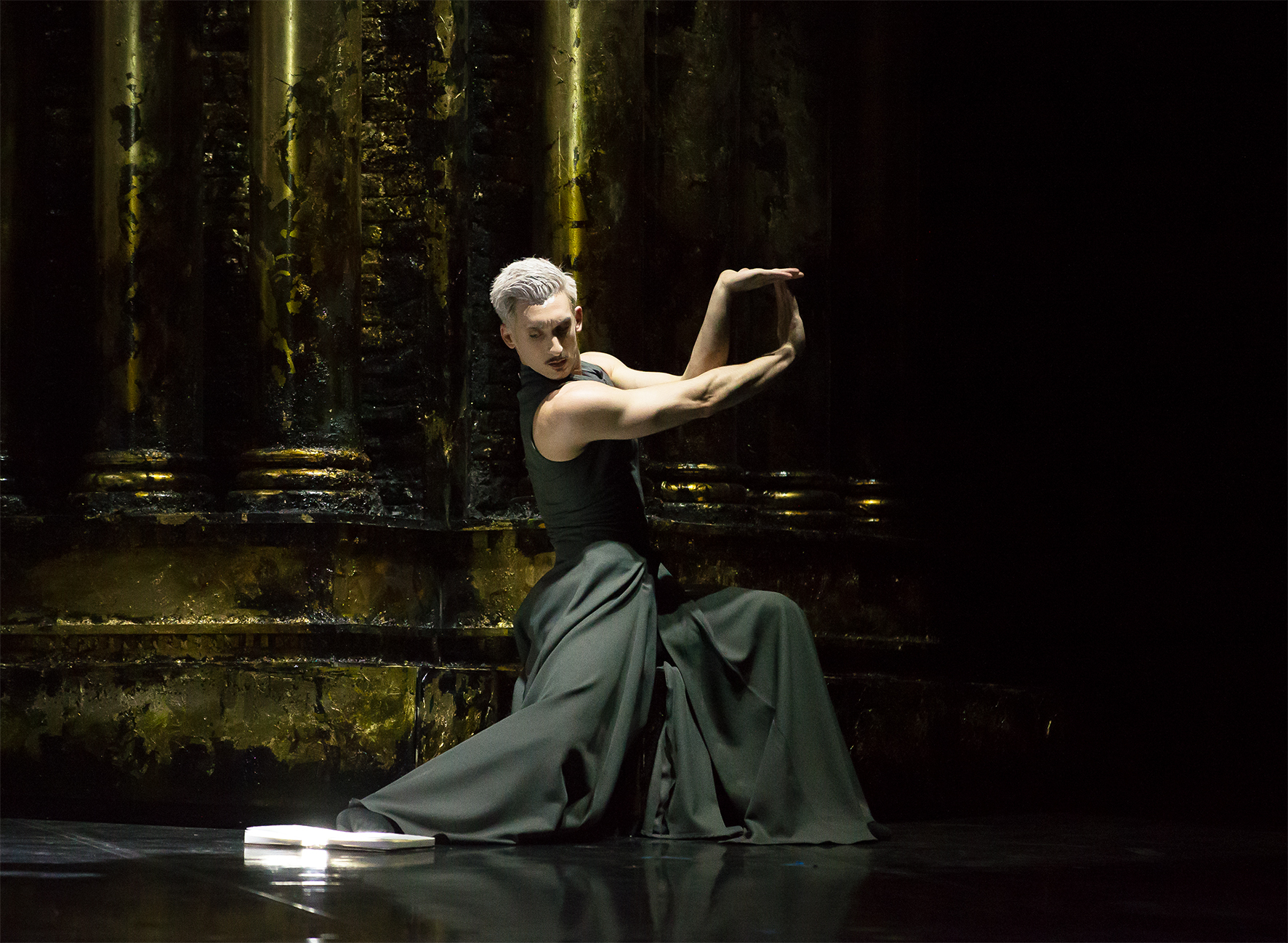 Northern Ballet's Casanova. Giuliano Contadini as Casanova. Photo by Emma Kauldhar.