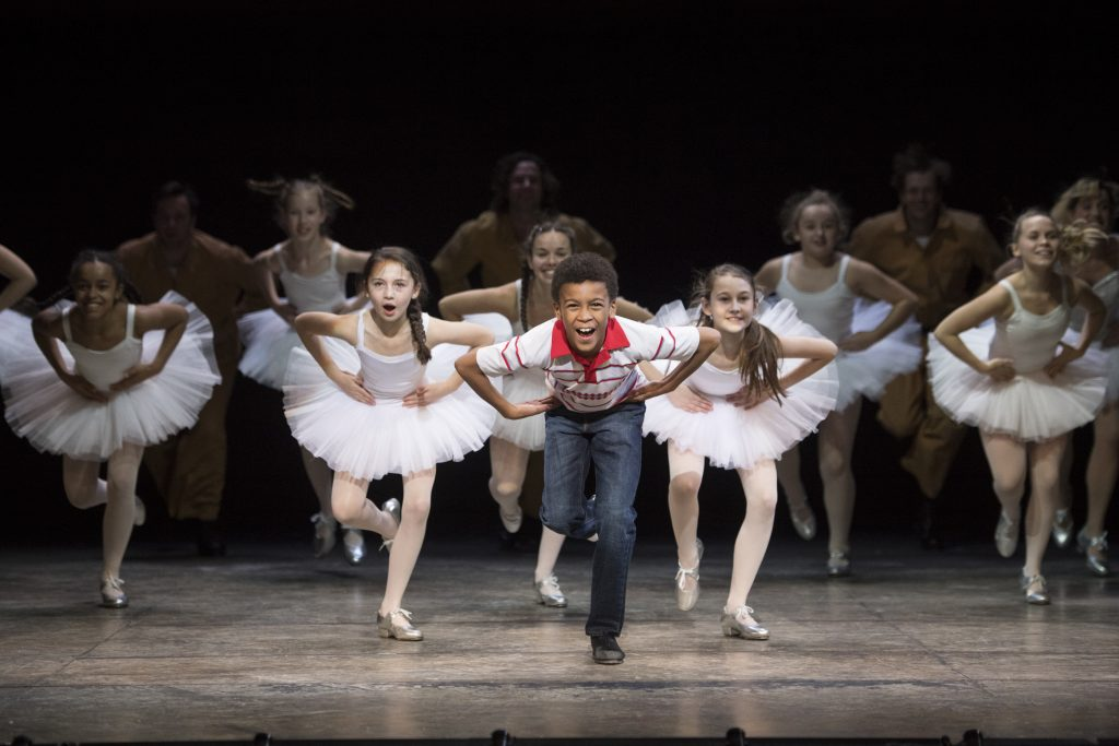 Billy Elliot. Emile Gooding as Billy Elliot. Photo by Alastair Muir.