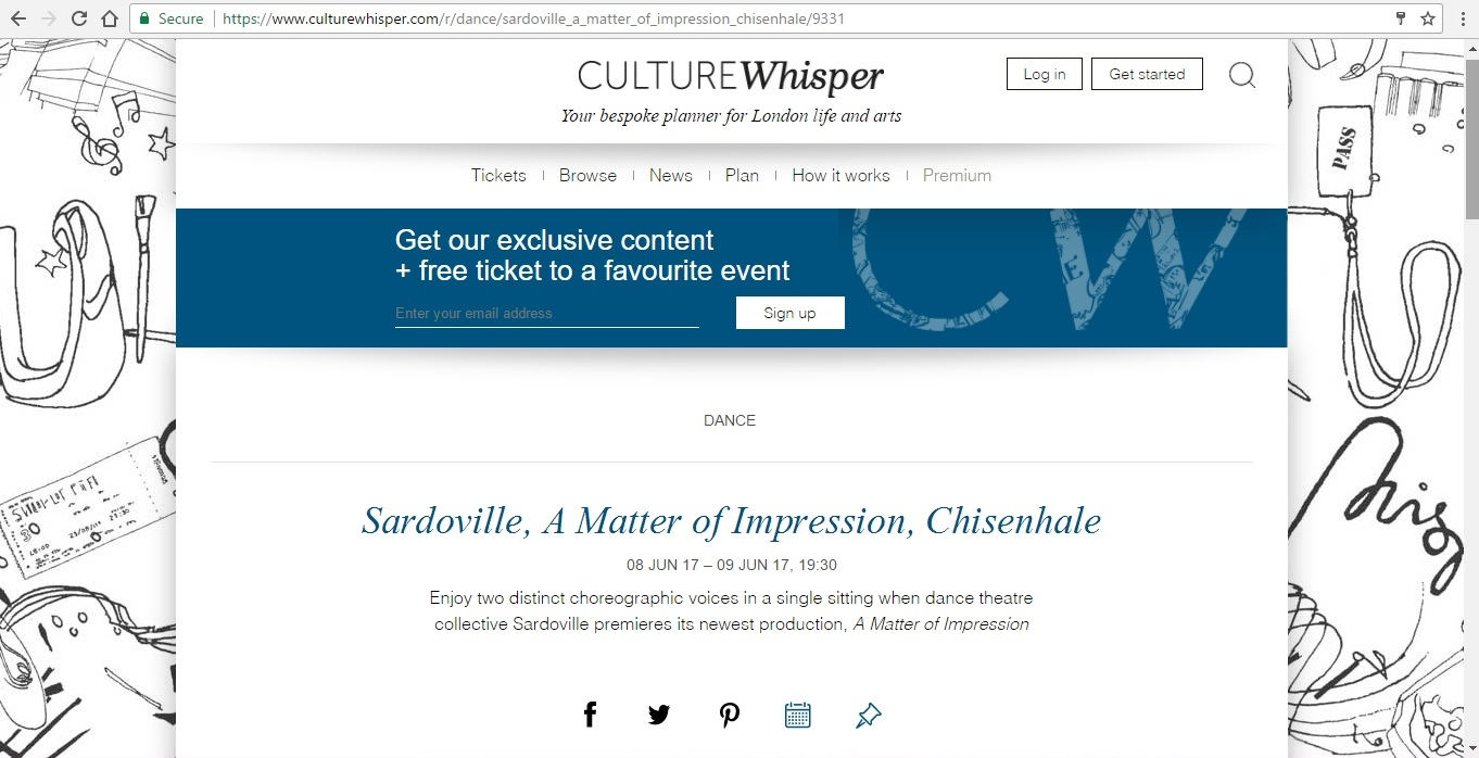Screenshot of Culture Whisper content by Georgina Butler. Preview of Sardoville: A Matter of Impression, image 1