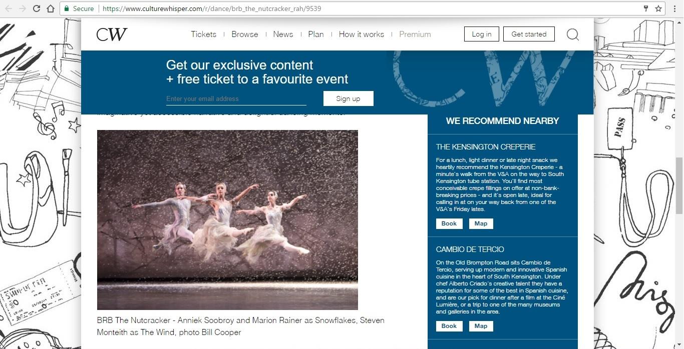 Screenshot of Culture Whisper content by Georgina Butler. Preview of Birmingham Royal Ballet: The Nutcracker, image 4