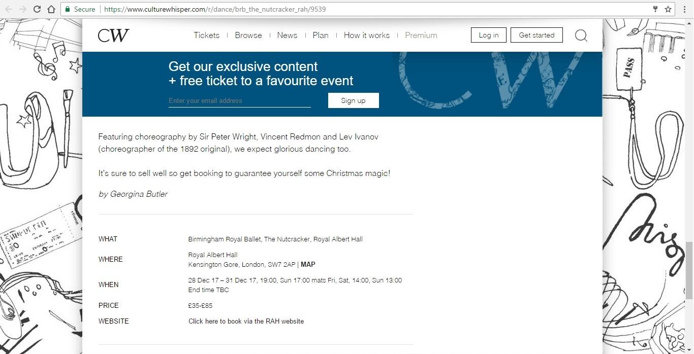 Screenshot of Culture Whisper content by Georgina Butler. Preview of Birmingham Royal Ballet: The Nutcracker, image 6