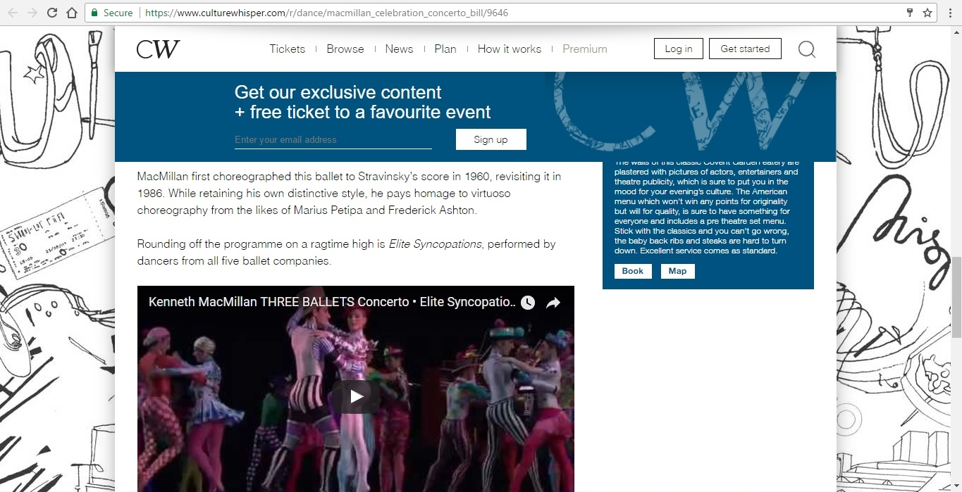 Screenshot of Culture Whisper content by Georgina Butler. Preview of Kenneth MacMillan a National Celebration: Concerto Mixed Bill, image 5