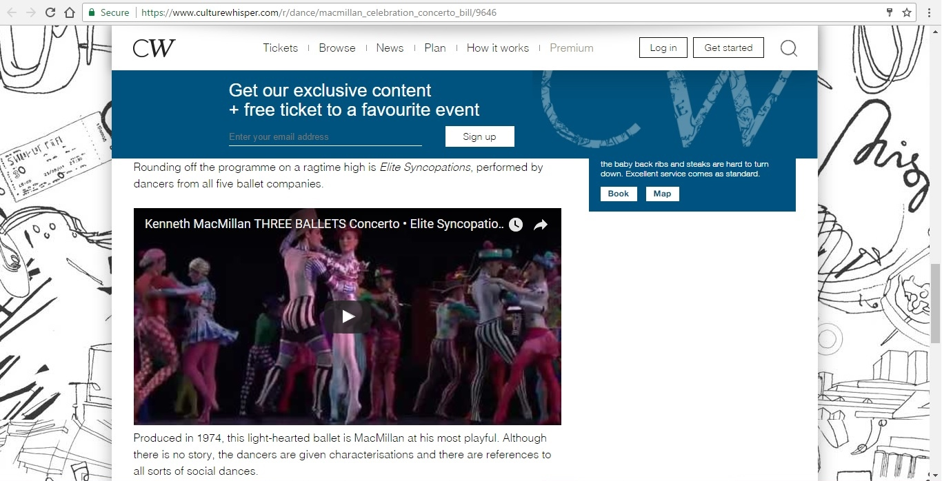 Screenshot of Culture Whisper content by Georgina Butler. Preview of Kenneth MacMillan a National Celebration: Concerto Mixed Bill, image 6