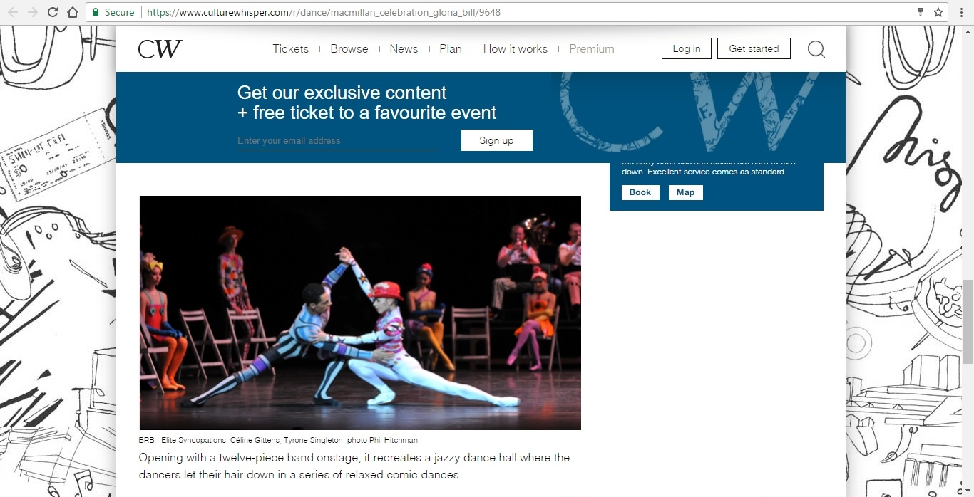 Screenshot of Culture Whisper content by Georgina Butler. Preview of Kenneth MacMillan a National Celebration: Gloria Mixed Bill, image 5