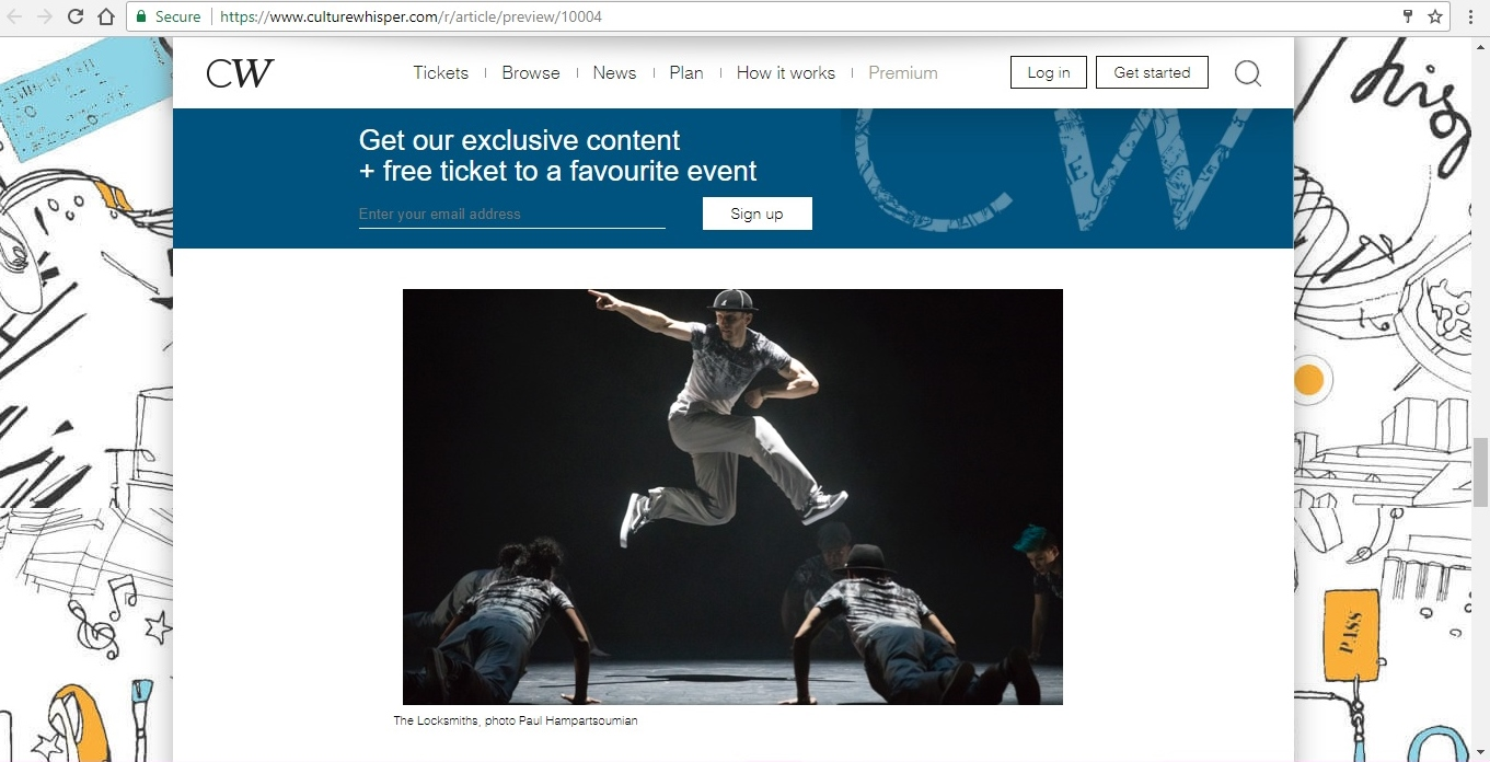 Screenshot of Culture Whisper content by Georgina Butler. Feature: The Definitive Guide to Street Dance Lingo, image 10