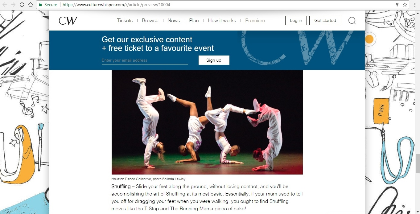 Screenshot of Culture Whisper content by Georgina Butler. Feature: The Definitive Guide to Street Dance Lingo, image 13