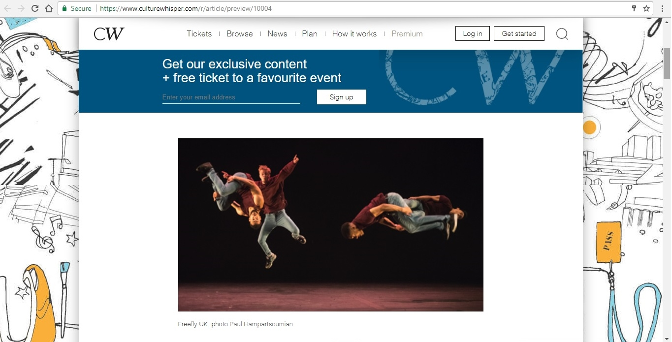 Screenshot of Culture Whisper content by Georgina Butler. Feature: The Definitive Guide to Street Dance Lingo, image 2