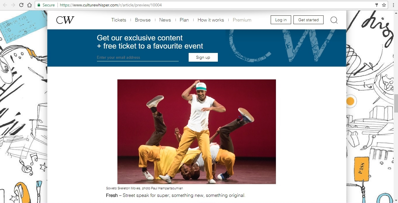 Screenshot of Culture Whisper content by Georgina Butler. Feature: The Definitive Guide to Street Dance Lingo, image 8