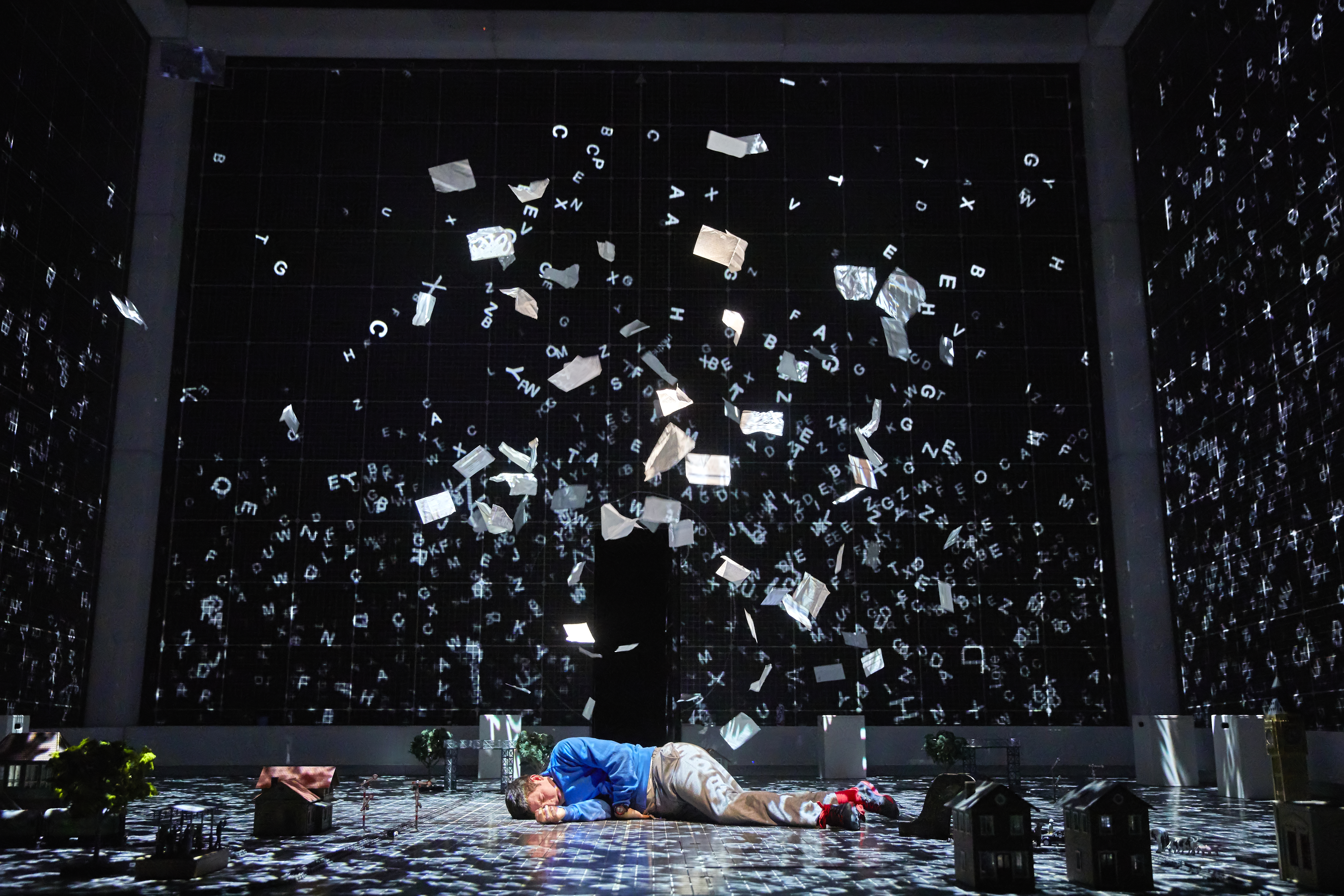Scott Reid as Christopher Boone in the National Theatre production of The Curious Incident of the Dog in the Night-Time.
