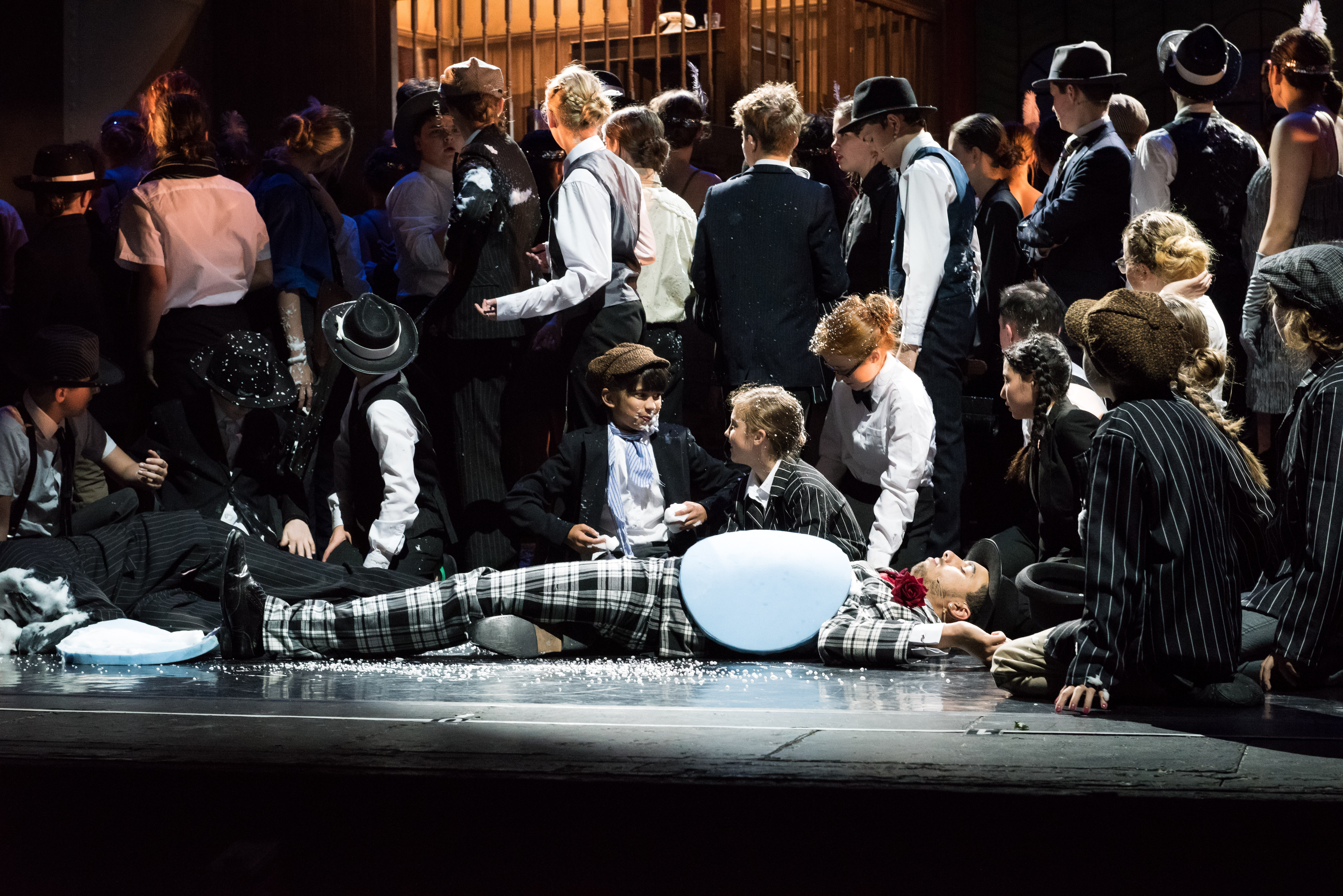 Stage Experience cast of Bugsy Malone at Milton Keynes Theatre.