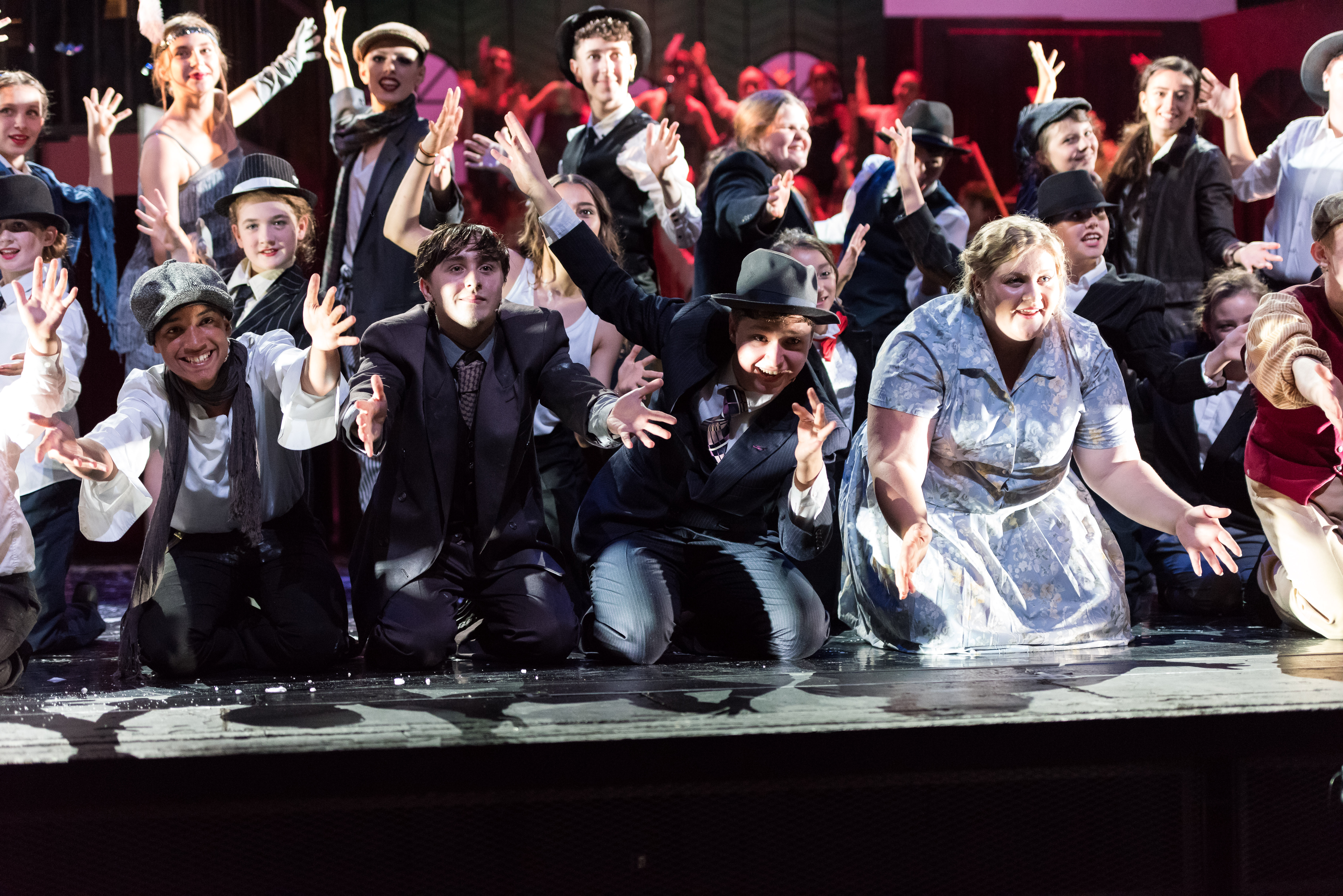Stage Experience Bugsy Malone at Milton Keynes Theatre.