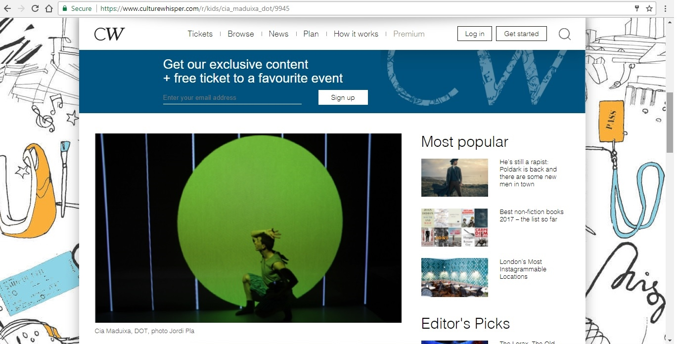 Screenshot of Culture Whisper content by Georgina Butler. Preview of Cia Maduixa: DOT, image 2