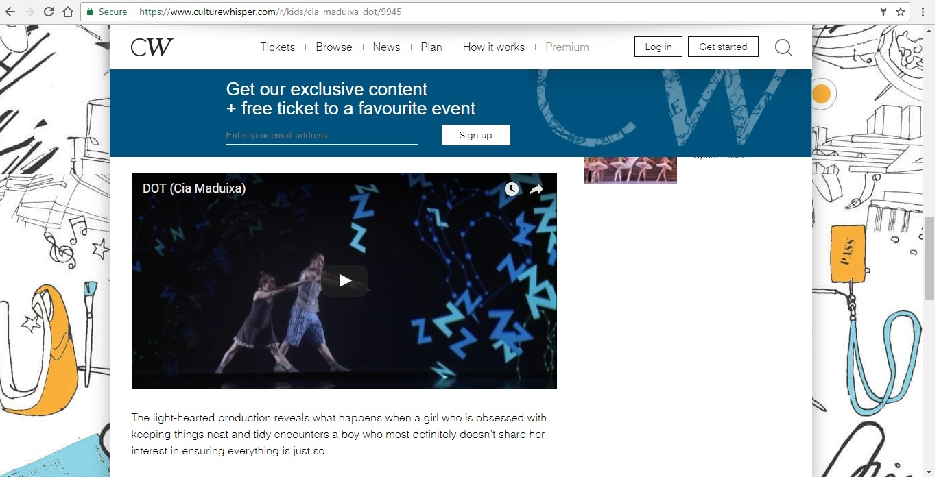 Screenshot of Culture Whisper content by Georgina Butler. Preview of Cia Maduixa: DOT, image 4