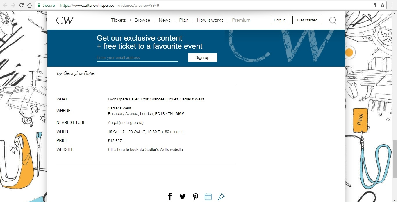 Screenshot of Culture Whisper content by Georgina Butler. Preview of Lyon Opera Ballet: Trois Grandes Fugues, image 6