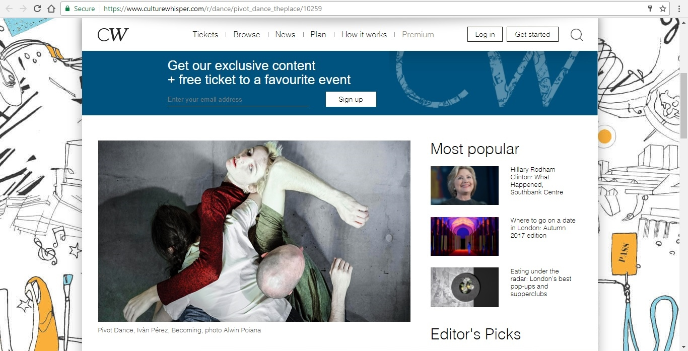 Screenshot of Culture Whisper content by Georgina Butler. Preview of Pivot Dance, image 2