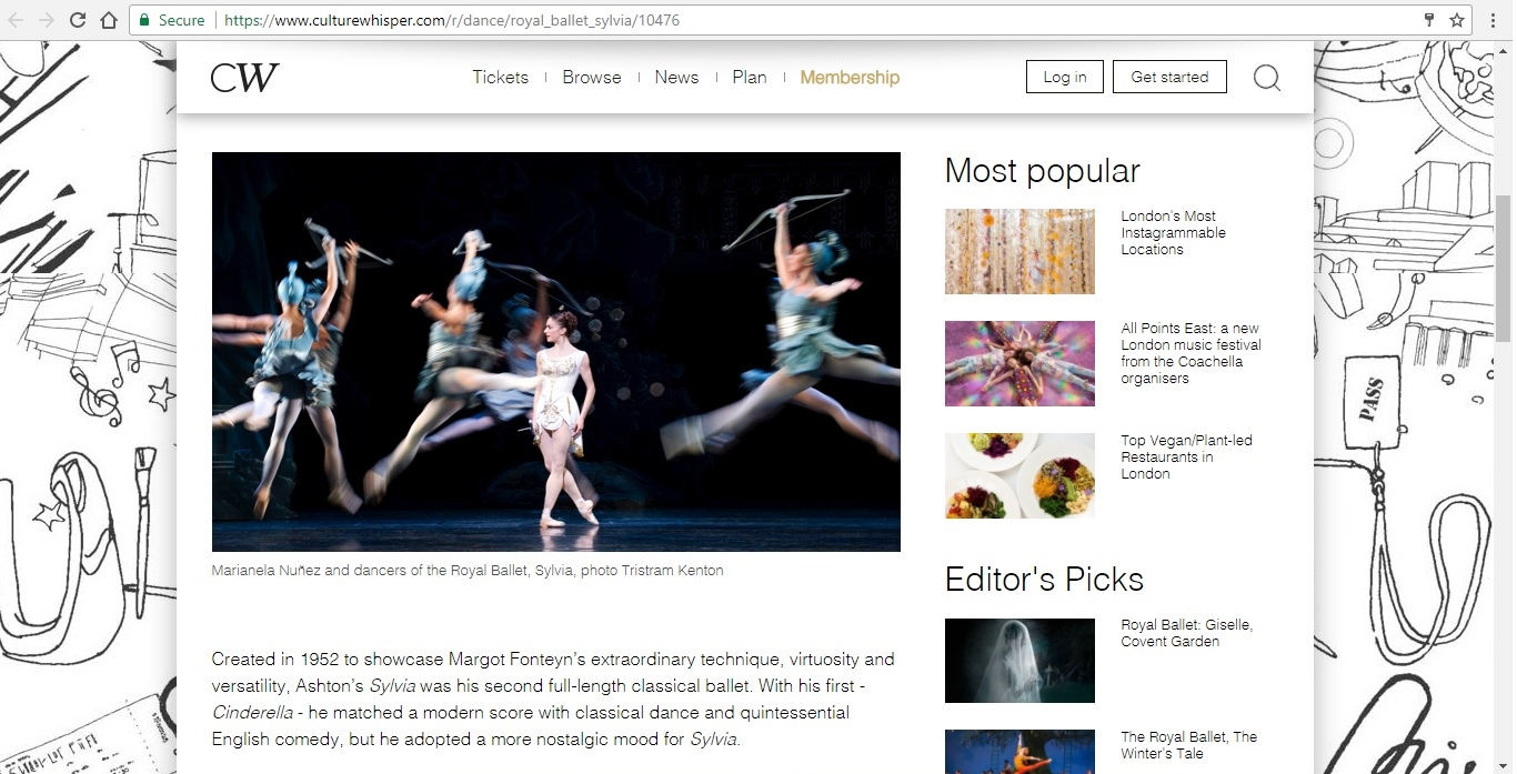Screenshot of Culture Whisper content by Georgina Butler. Preview of The Royal Ballet: Sylvia, image 2