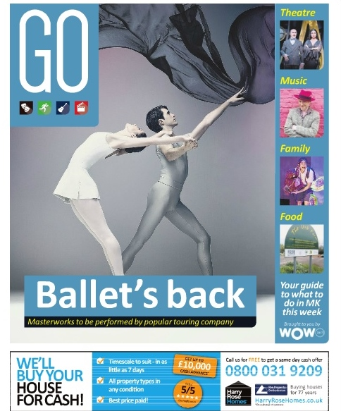 English National Ballet is to make a much-anticipated return to Milton Keynes Theatre with an exciting new double bill, Song of the Earth / La Sylphide. Milton Keynes Citizen GO supplement.