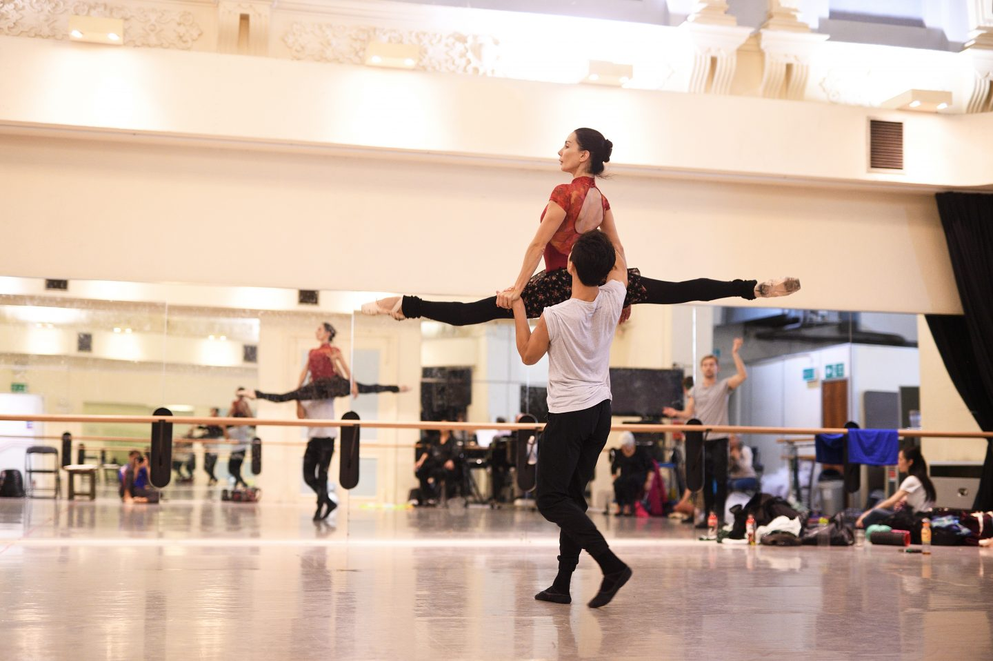 Tamara Rojo, Artistic Director and Lead Principal Dancer of English National Ballet, in rehearsals.