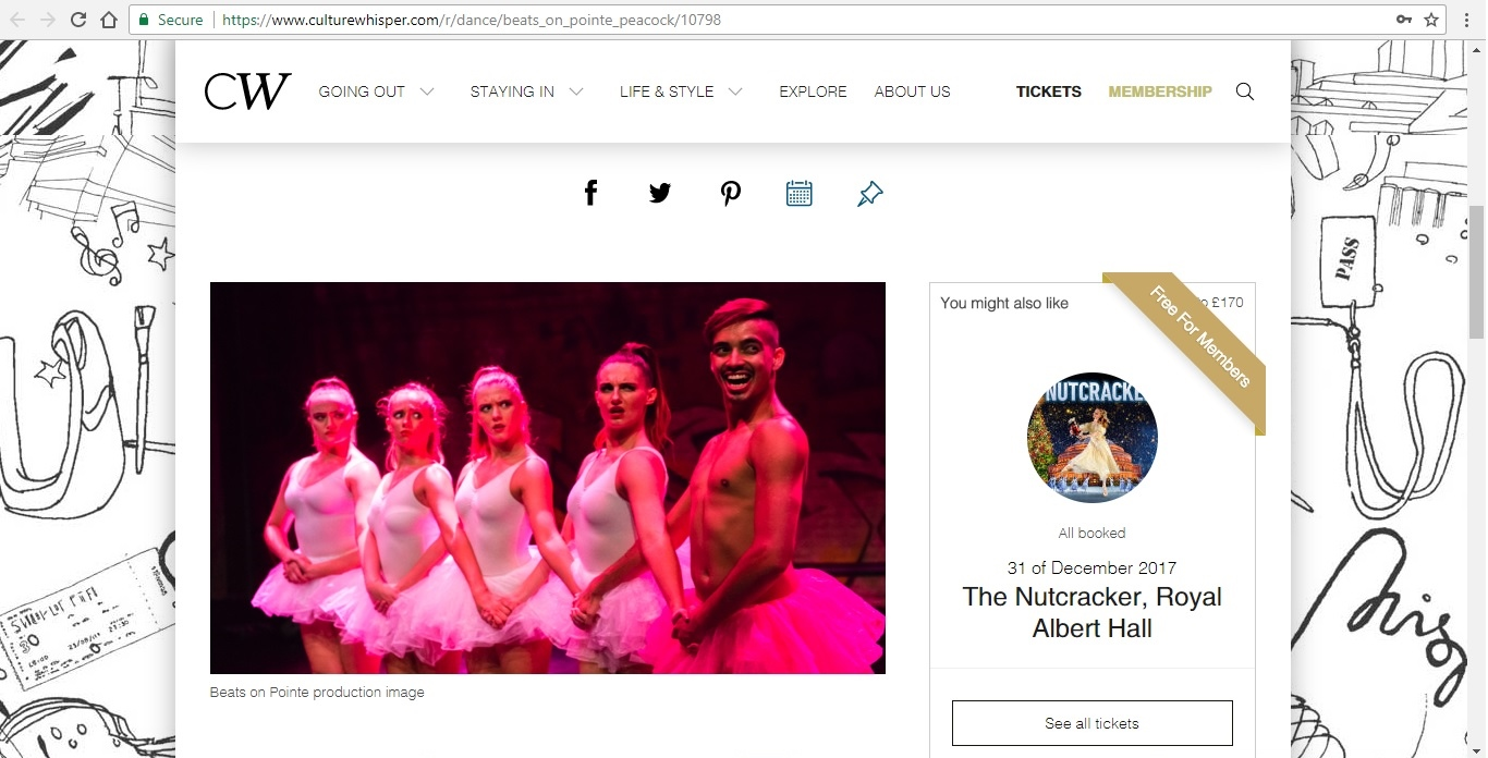 Screenshot of Culture Whisper content by Georgina Butler. Preview of Masters of Choreography: Beats on Pointe, image 2