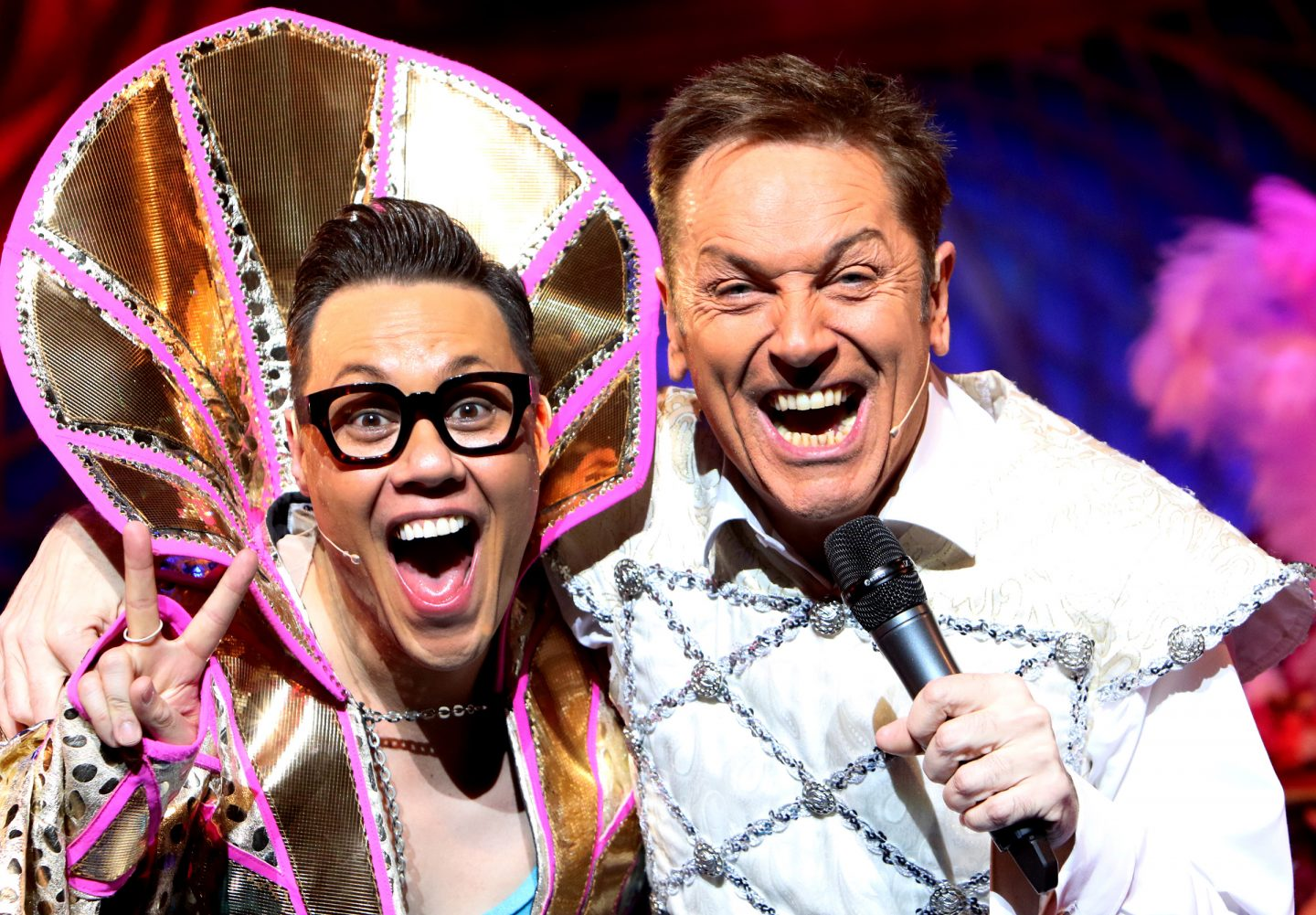 Pantomime stars Gok Wan and Brian Conley in Cinderella, Milton Keynes Theatre, Christmas 2017