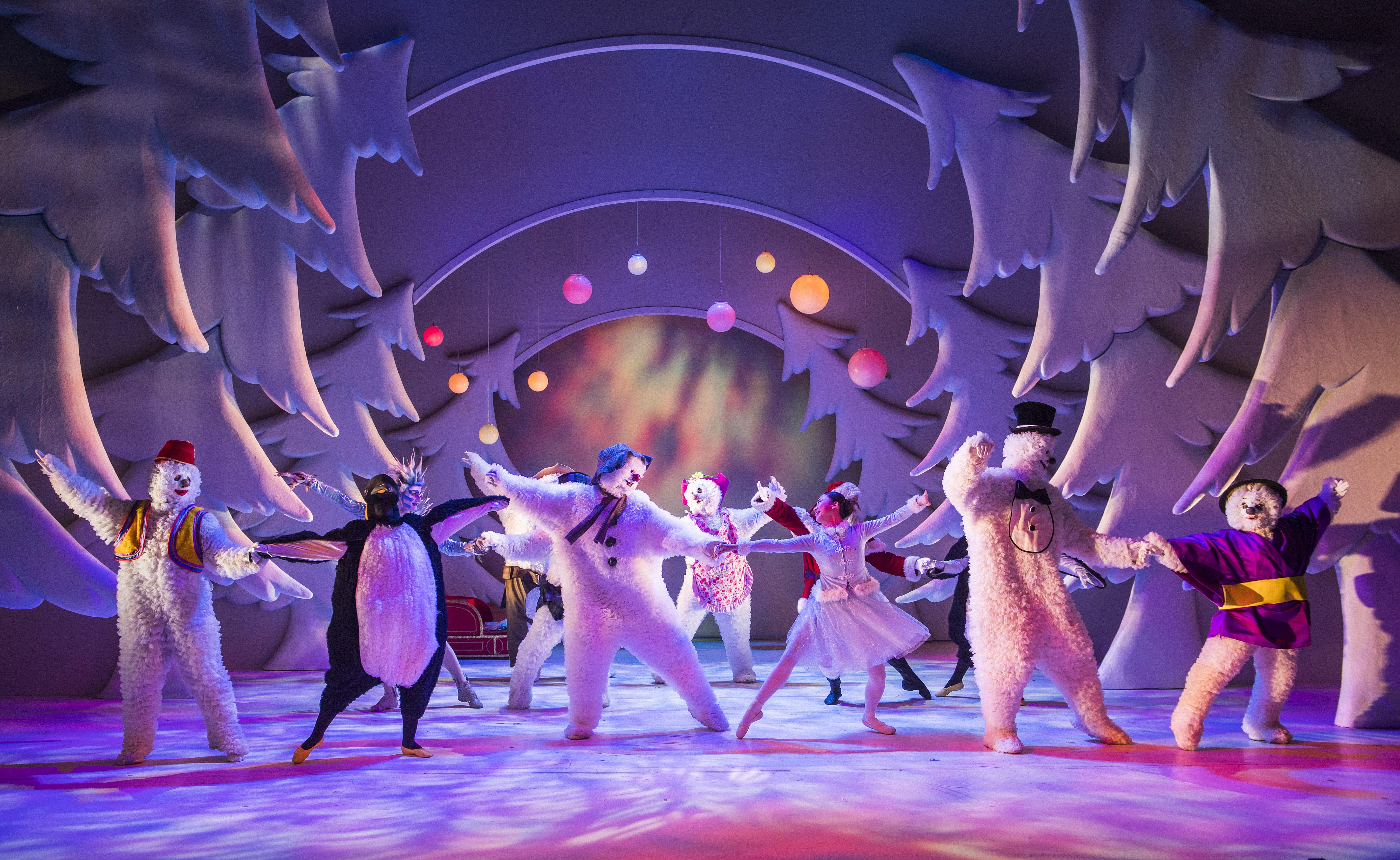 Dancer James Leece takes the title role in The Snowman stage show, dancing in a winter wonderland with a colourful cast of characters