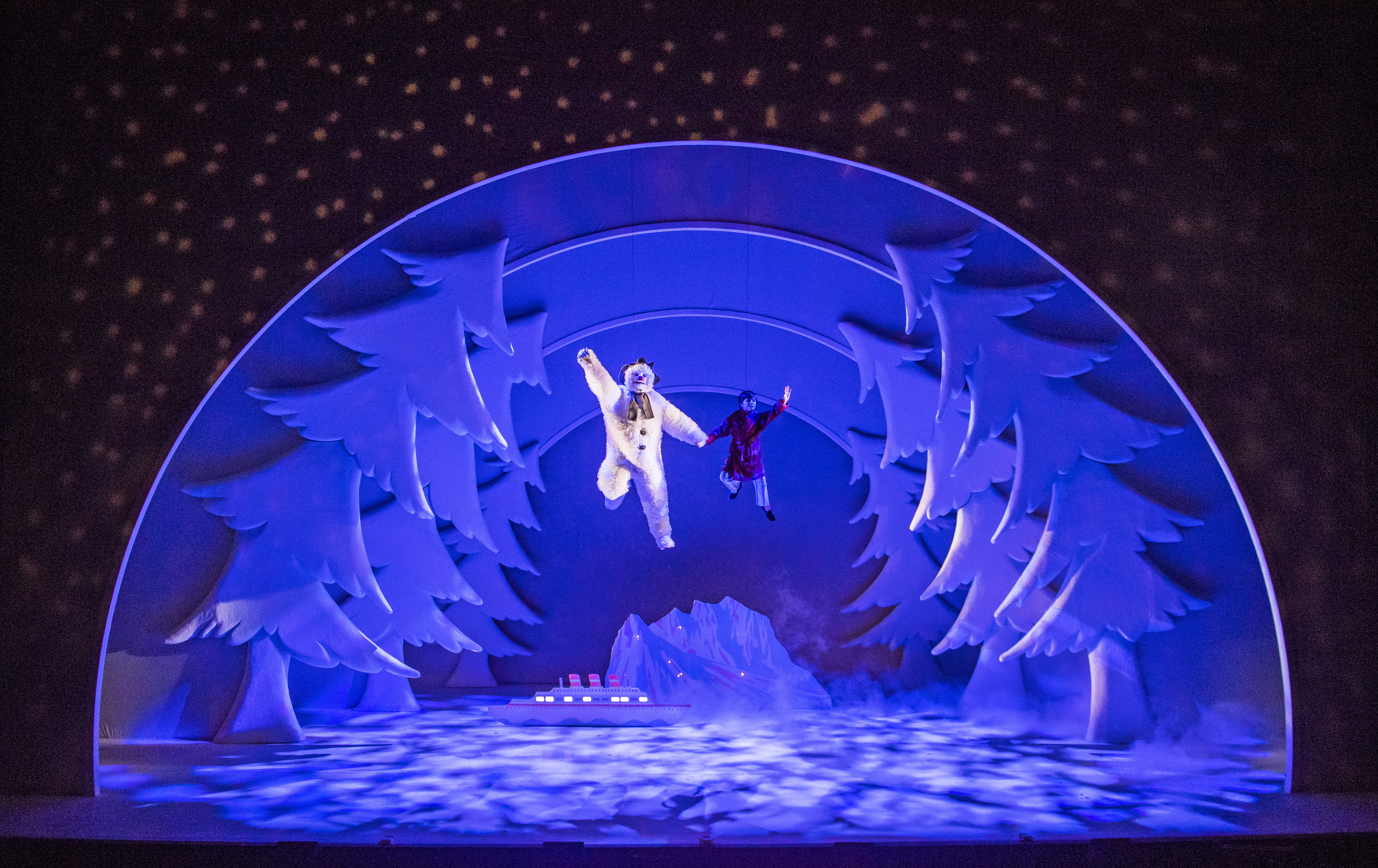 Dancer James Leece takes the title role in The Snowman stage show, flying through the air in a winter wonderland