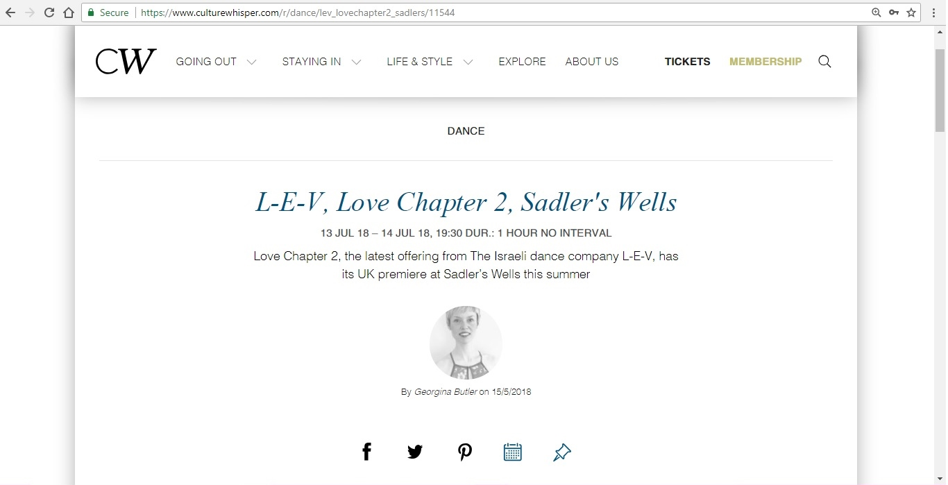 Screenshot of Culture Whisper content by Georgina Butler. Preview of L-E-V: Love Chapter 2, image 1