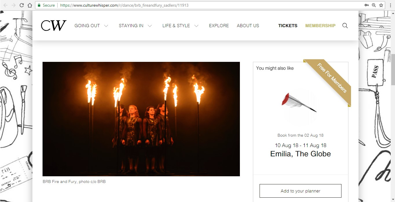 Screenshot of Culture Whisper content by Georgina Butler. Preview of Birmingham Royal Ballet: Fire and Fury, image 2