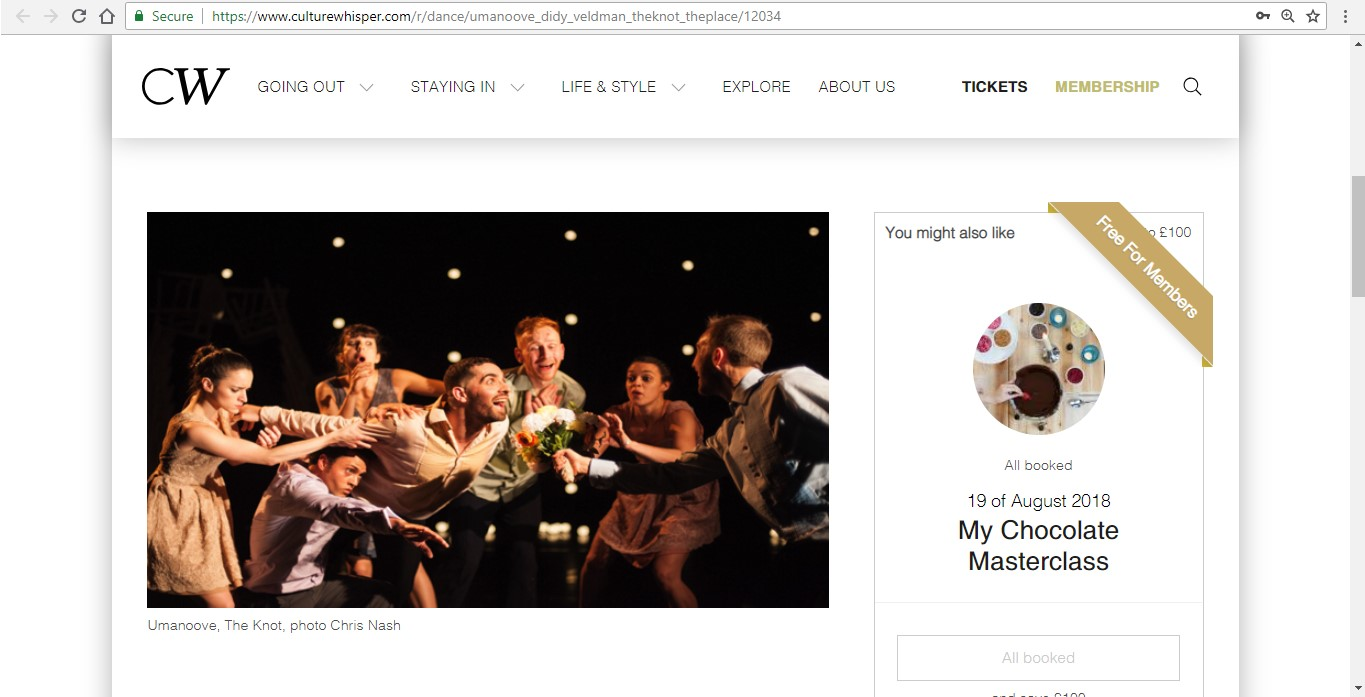 Screenshot of Culture Whisper content by Georgina Butler. Preview of Umanoove and Didy Veldman: The Knot, image 2