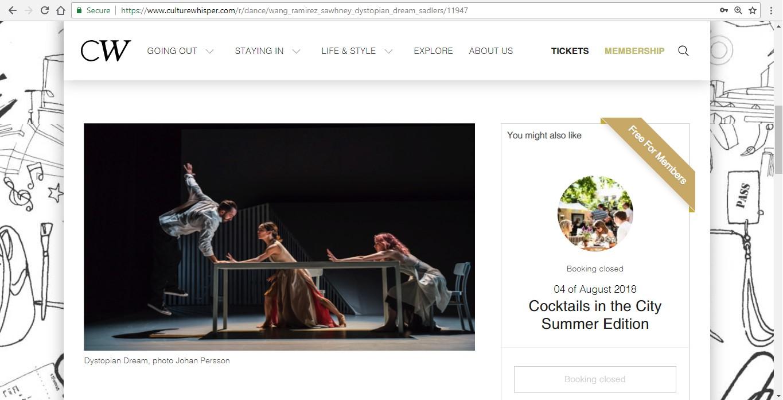 Screenshot of Culture Whisper content by Georgina Butler. Preview of Wang Ramirez and Nitin Sawhney: Dystopian Dream, image 2