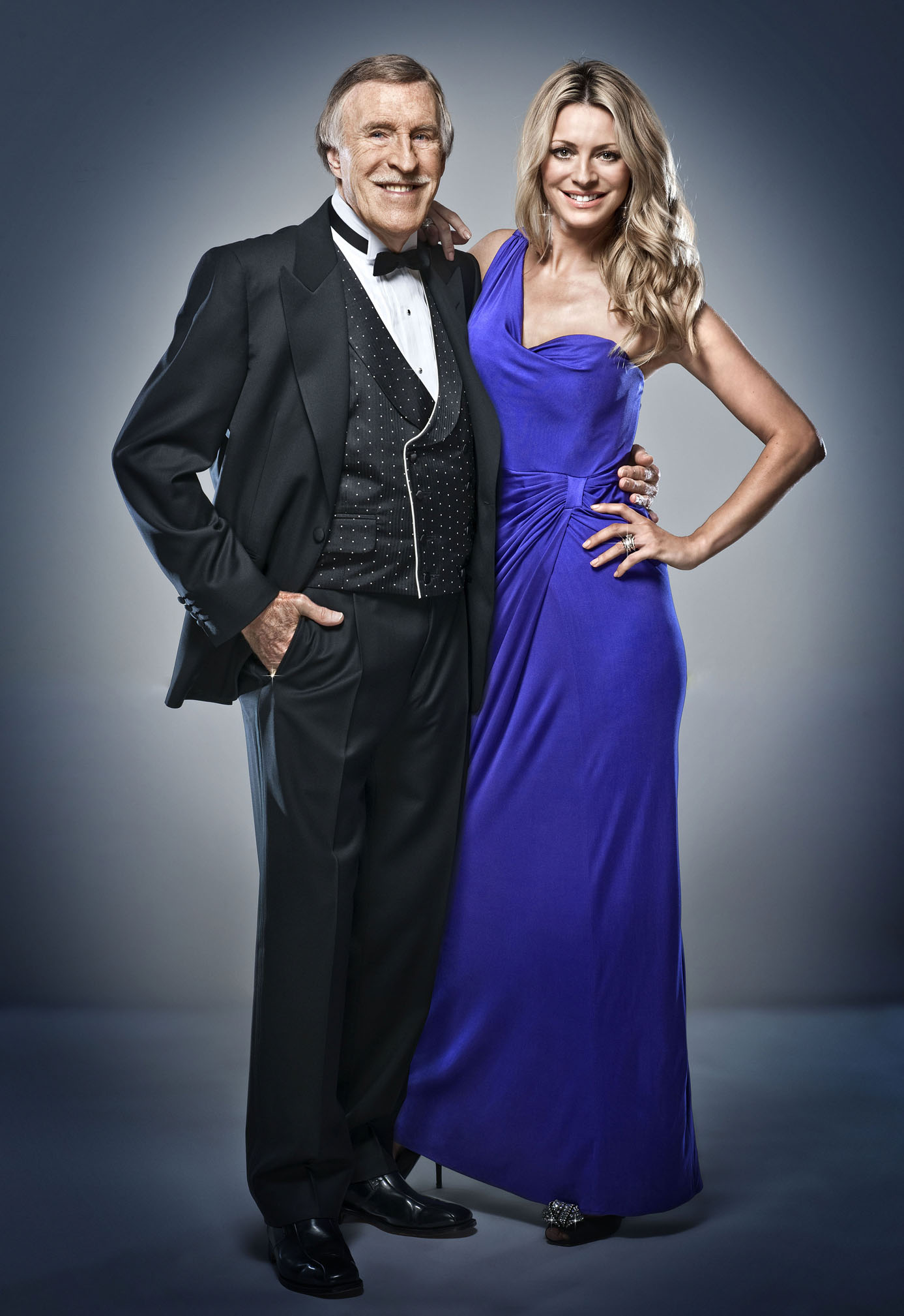 Bruce Forsyth and Tess Daly, the presenters of BBC show Strictly Come Dancing, 2010. Picture courtesy of the BBC.