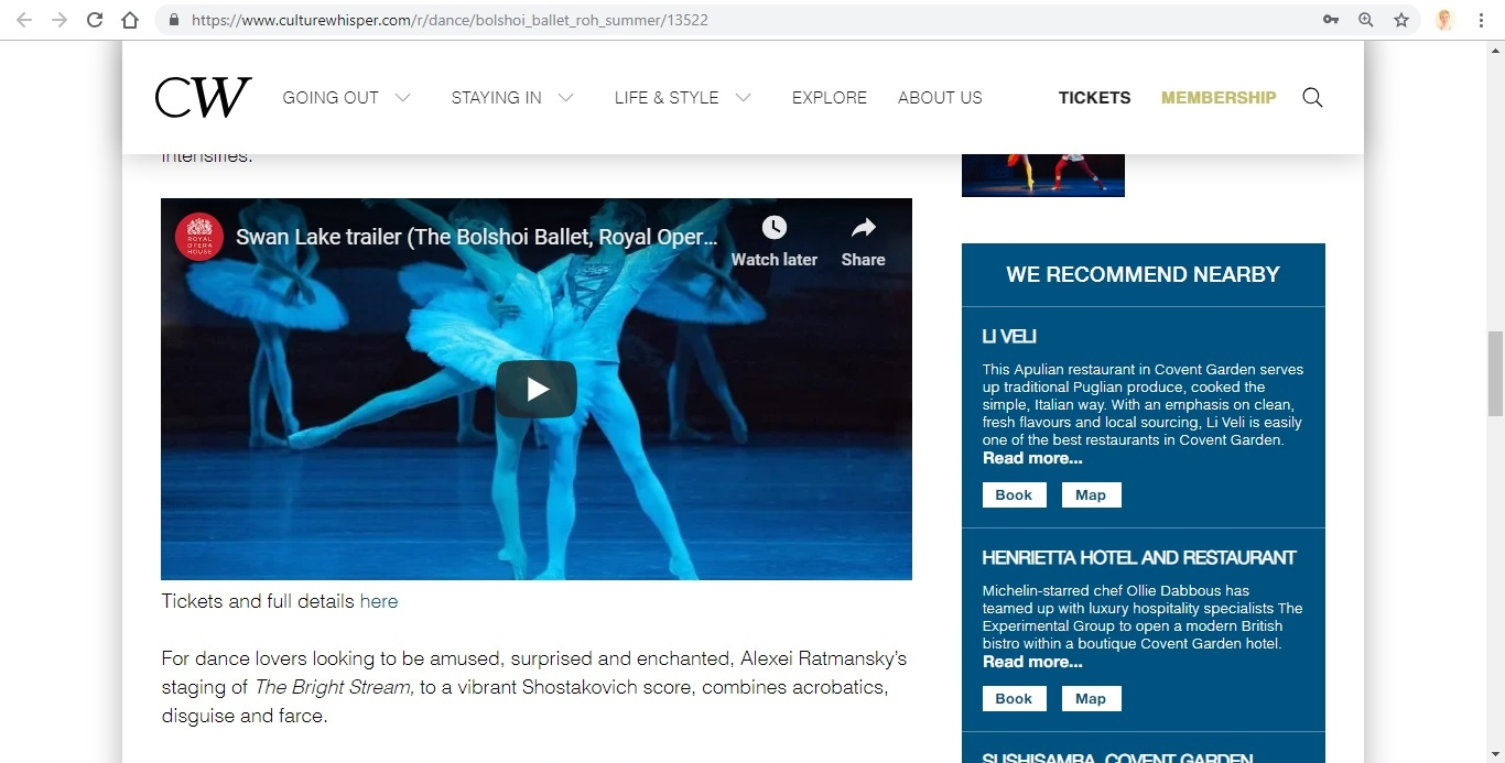 Culture Whisper - Bolshoi Ballet, ROH Summer 2019 5