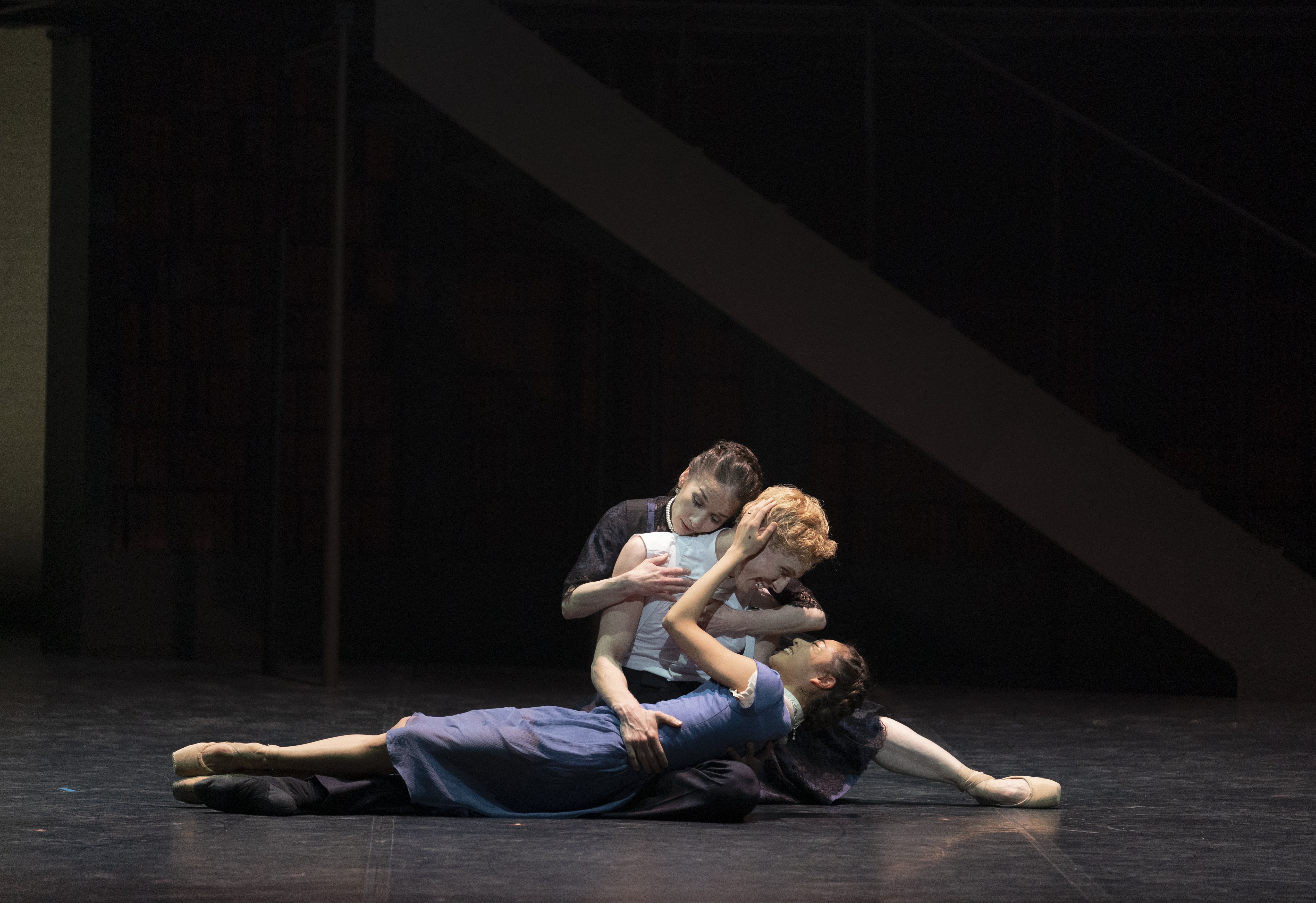 Northern Ballet. Victoria. Northern Ballet's 'Victoria'. Pippa Moore as Older Princess Beatrice, Sean Bates as Liko and Miki Akuta as Younger Princess Beatrice.