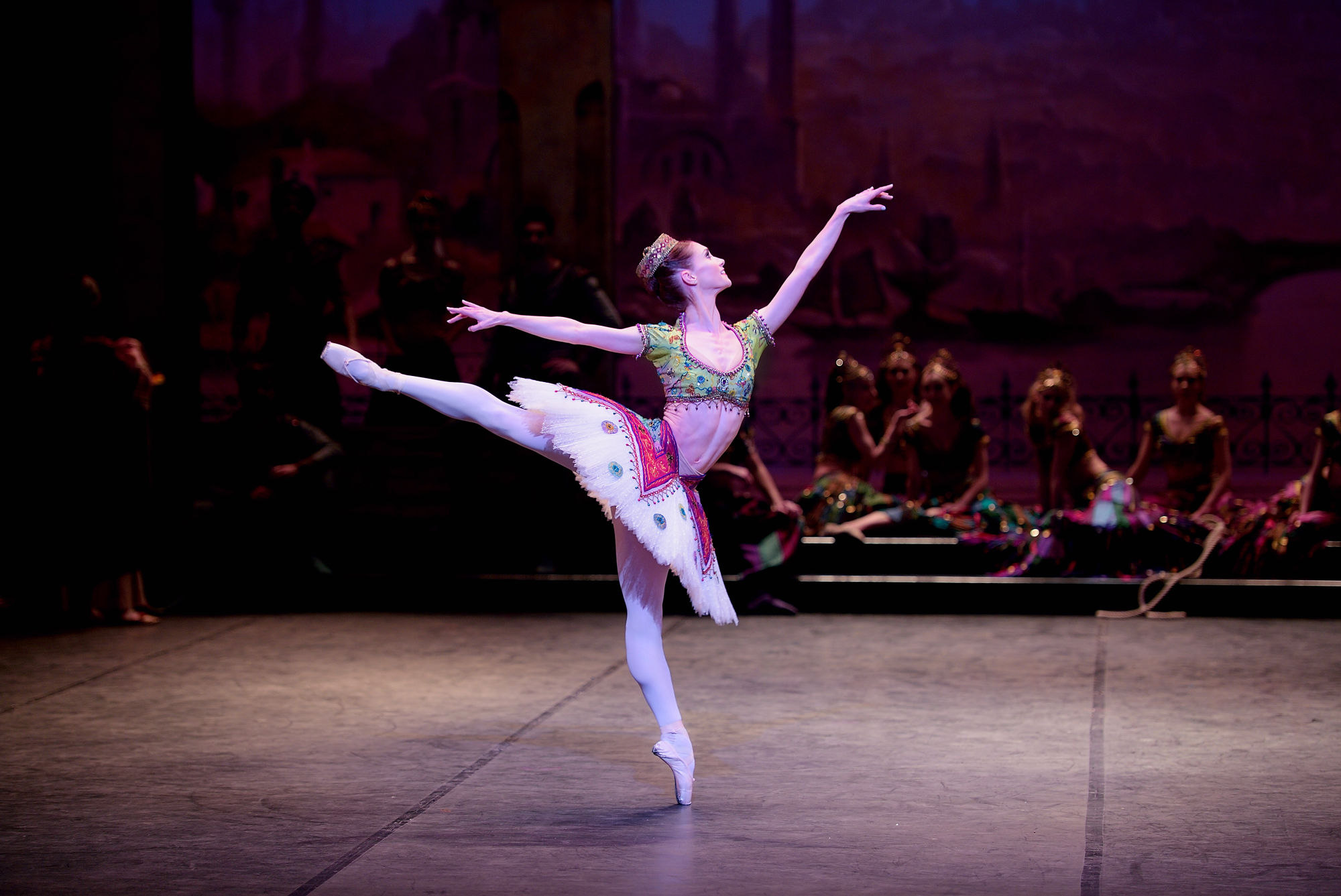 English National Ballet. Alison McWhinney in Le Corsaire.