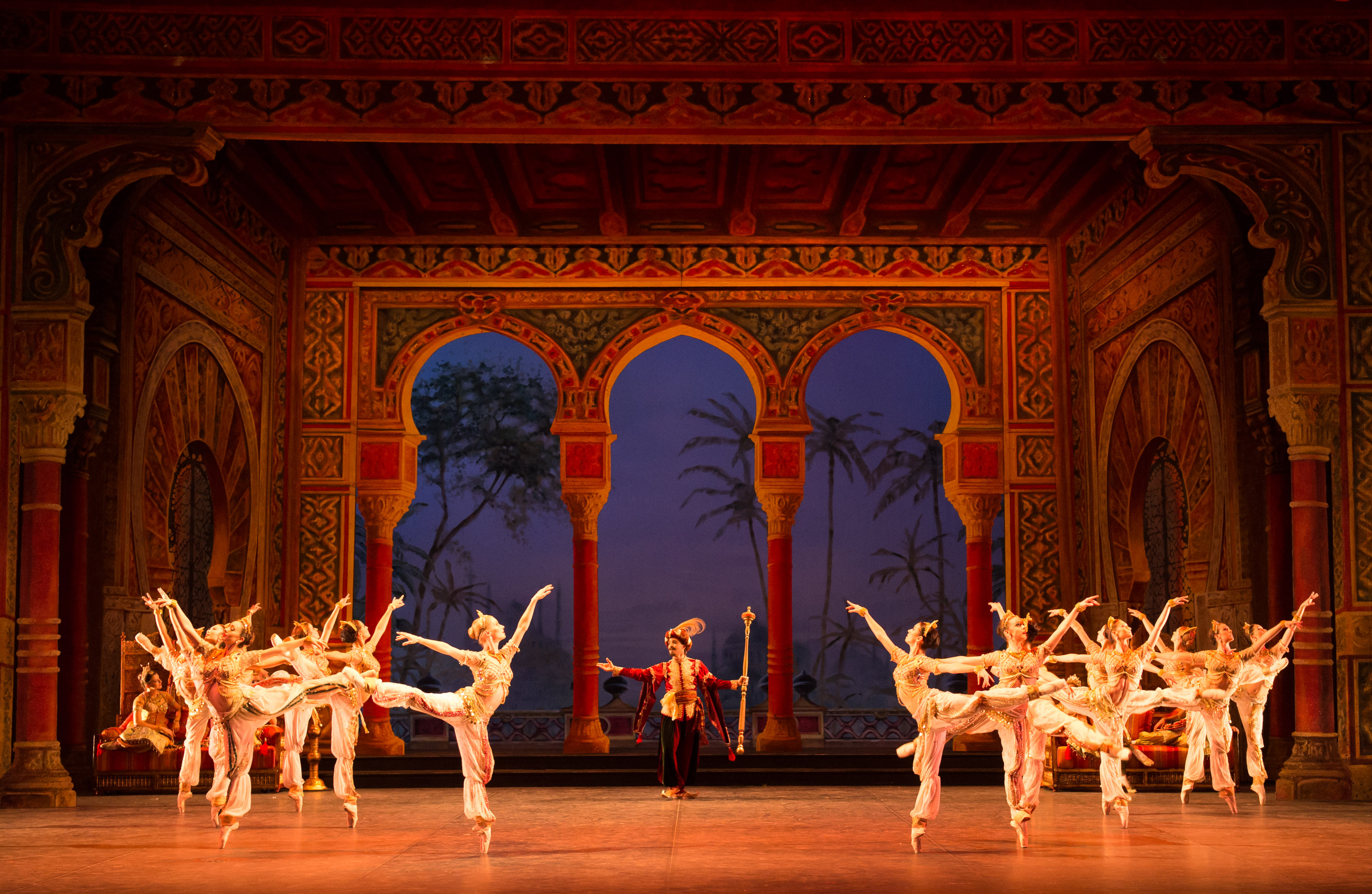English National Ballet dancers performing the world premiere of Le Corsaire.