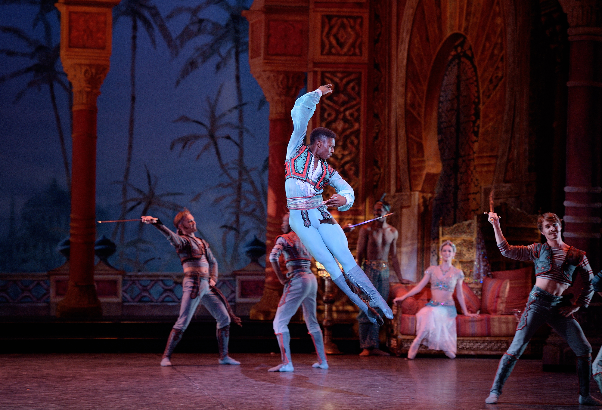 English National Ballet. Brooklyn Mack as Conrad in Le Corsaire.