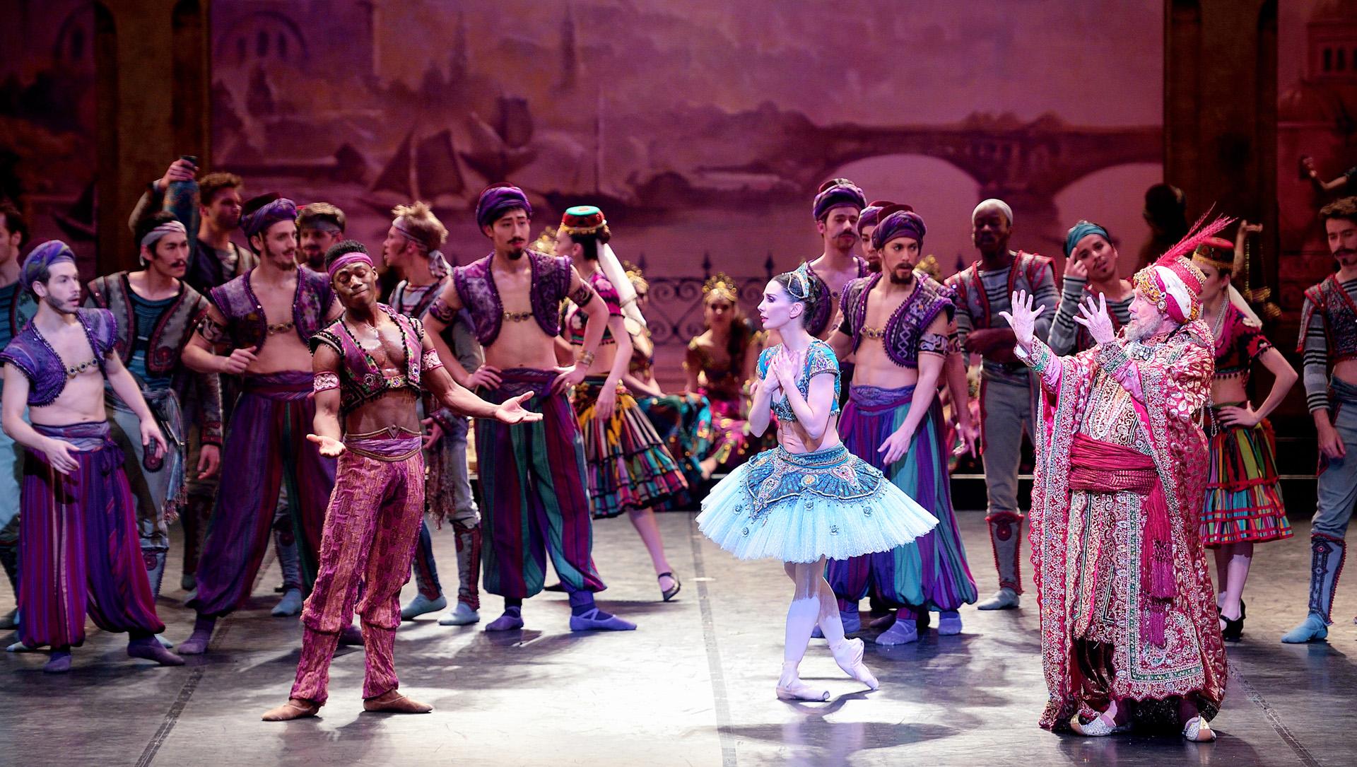 English National Ballet. Tamara Rojo dancing in English National Ballet's 'Le Corsaire'.