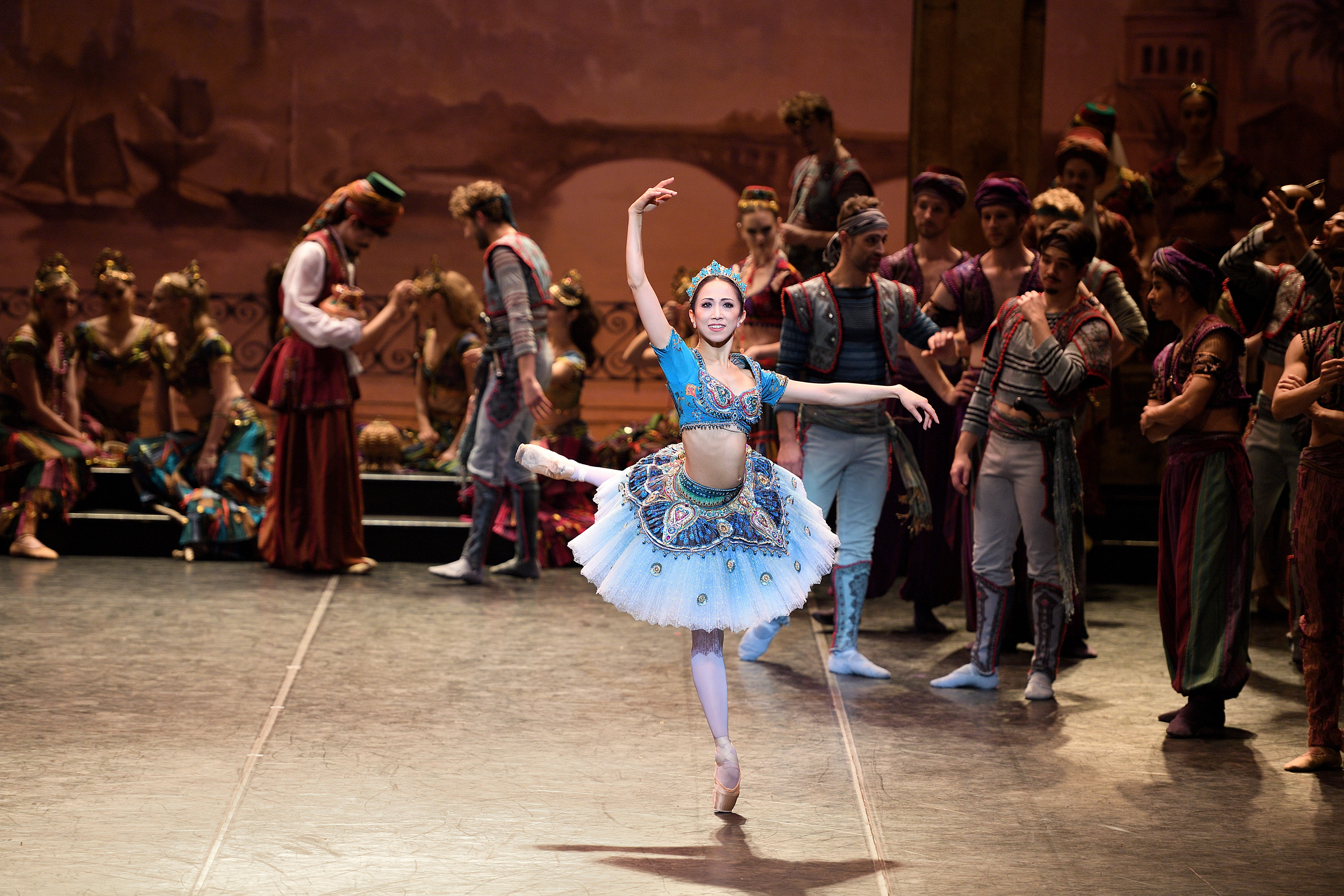 Le Corsaire. Erina Takahashi as Medora in English National Ballet's Le Corsaire.