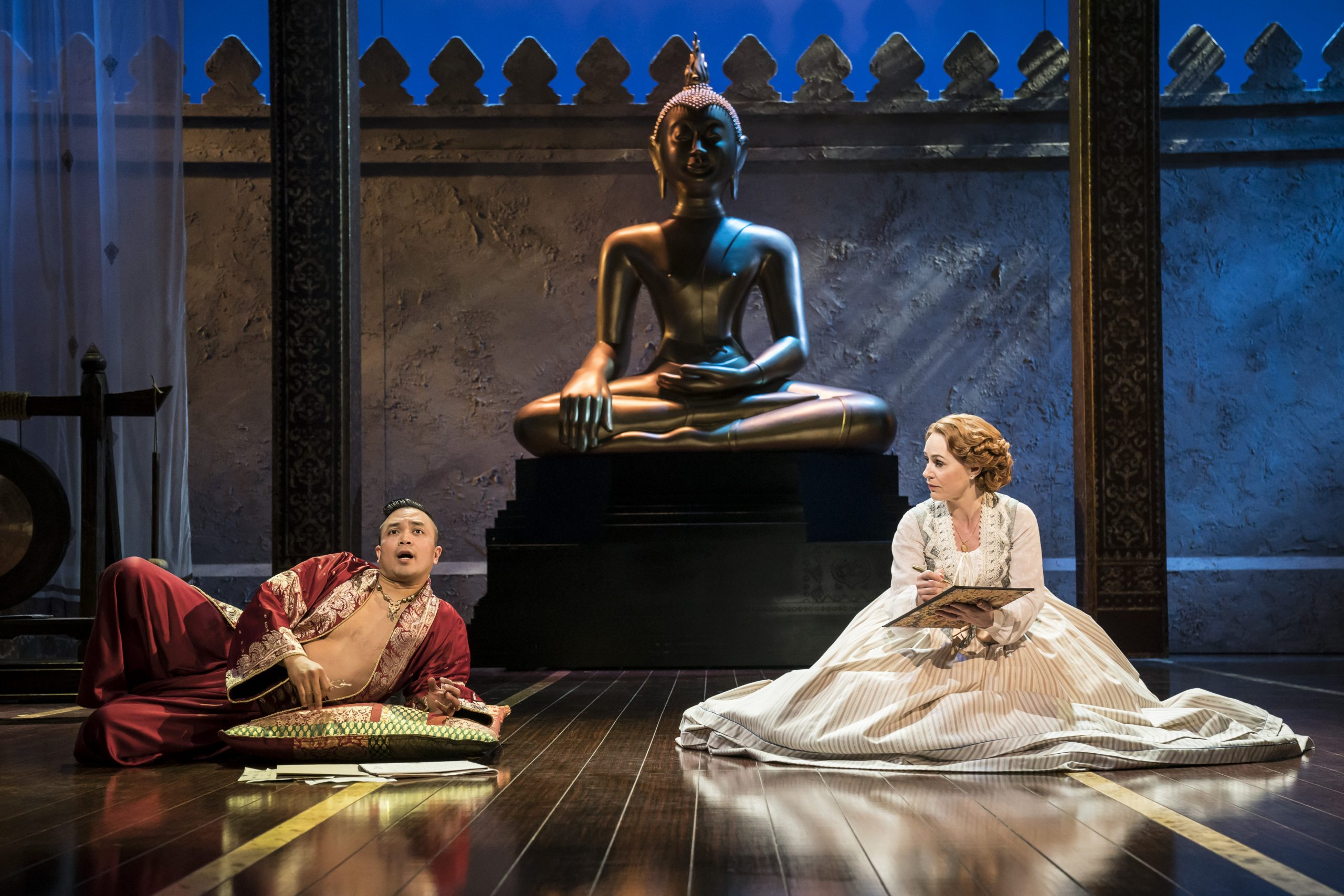 The King and I. Bartlett Sher's interpretation of Rodgers' & Hammerstein's classic. The King of Siam and Anna getting to know each other by mirroring each others' positions on the floor.
