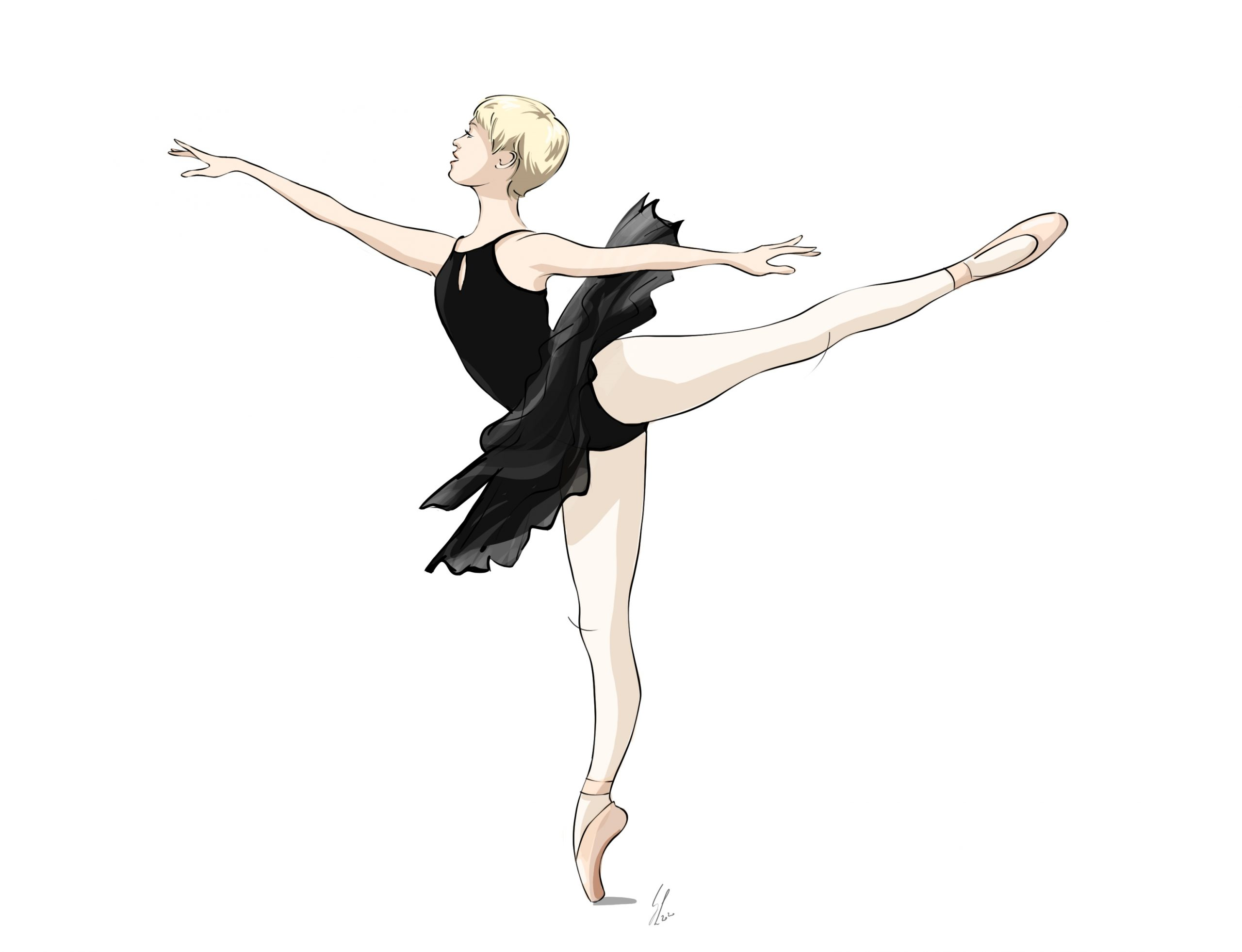 World Ballet Day 2020. Illustration of ballet teacher Georgina Butler.
