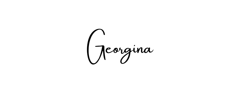The name 'Georgina' displayed in a font that looks like a handwritten signature.